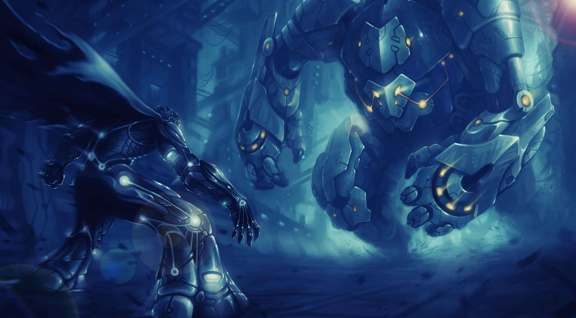 108799 Screensavers and Wallpapers Robots for phone. Download Fantasy, Cyborgs, Battle, Skirmish, Fight, Robots pictures for free