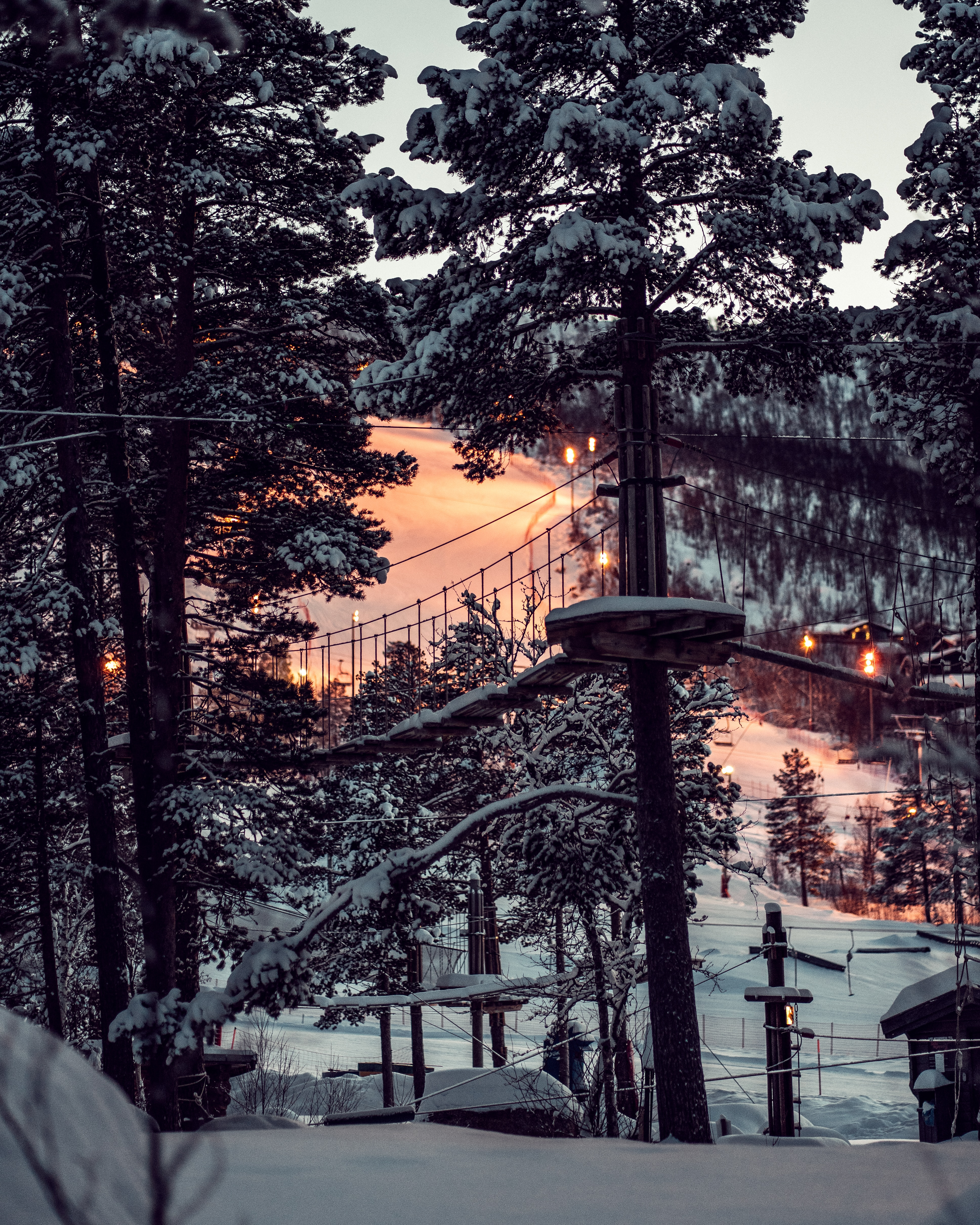 126247 Screensavers and Wallpapers Structure for phone. Download Winter, Nature, Sunset, Snow, Forest, Structure pictures for free