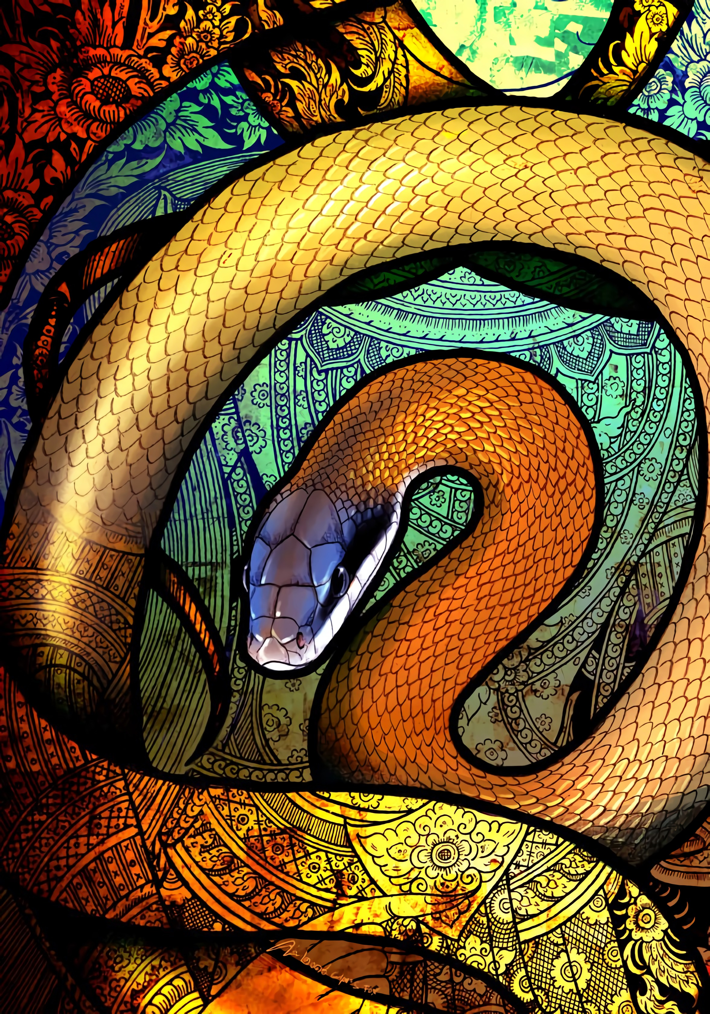141631 Screensavers and Wallpapers Snake for phone. Download Art, Patterns, Multicolored, Motley, Snake pictures for free