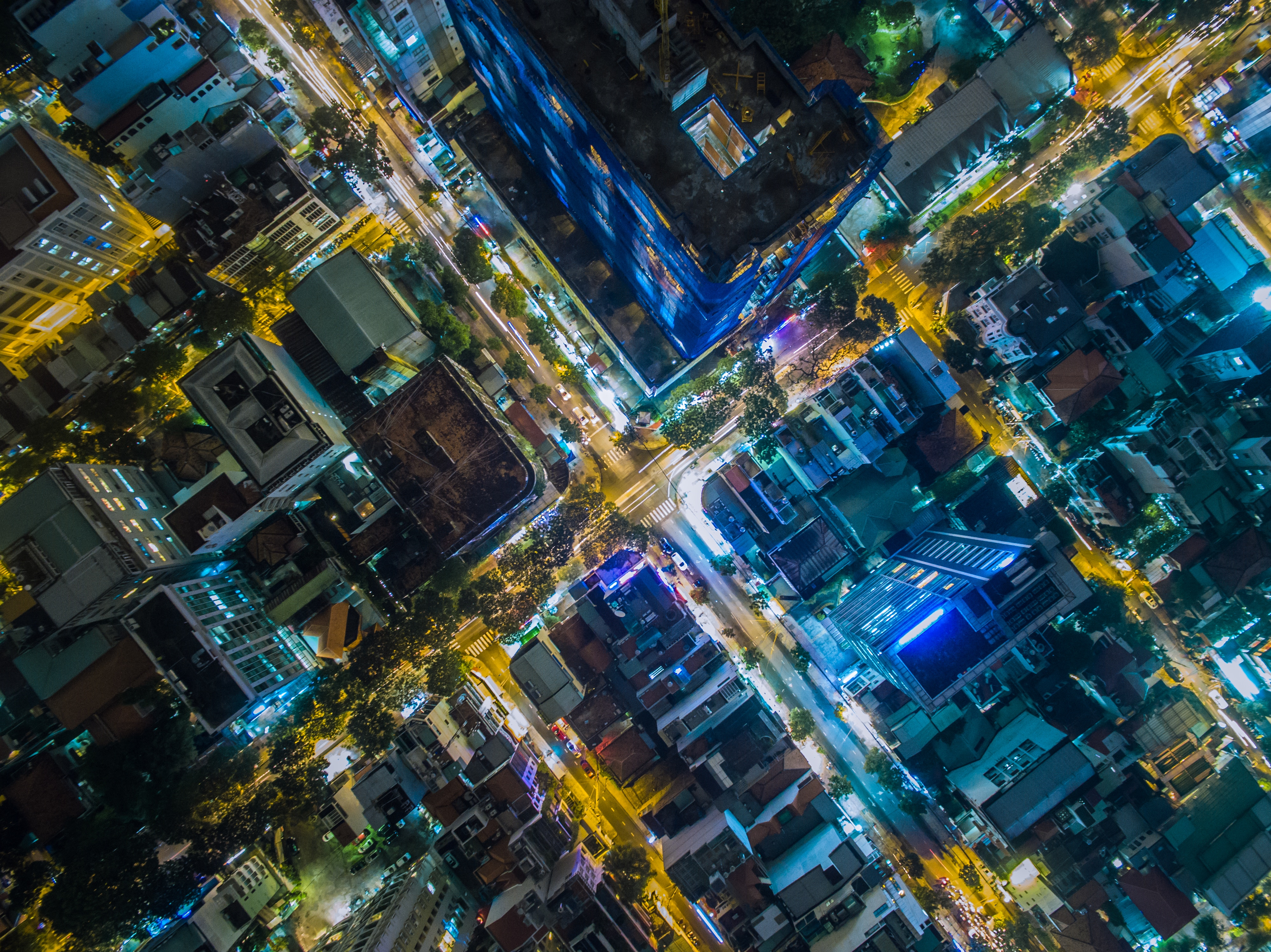 89315 free wallpaper 1080x2340 for phone, download images Cities, View From Above, Night City, Vietnam, Viet Nam, Ho Chi Minh City 1080x2340 for mobile