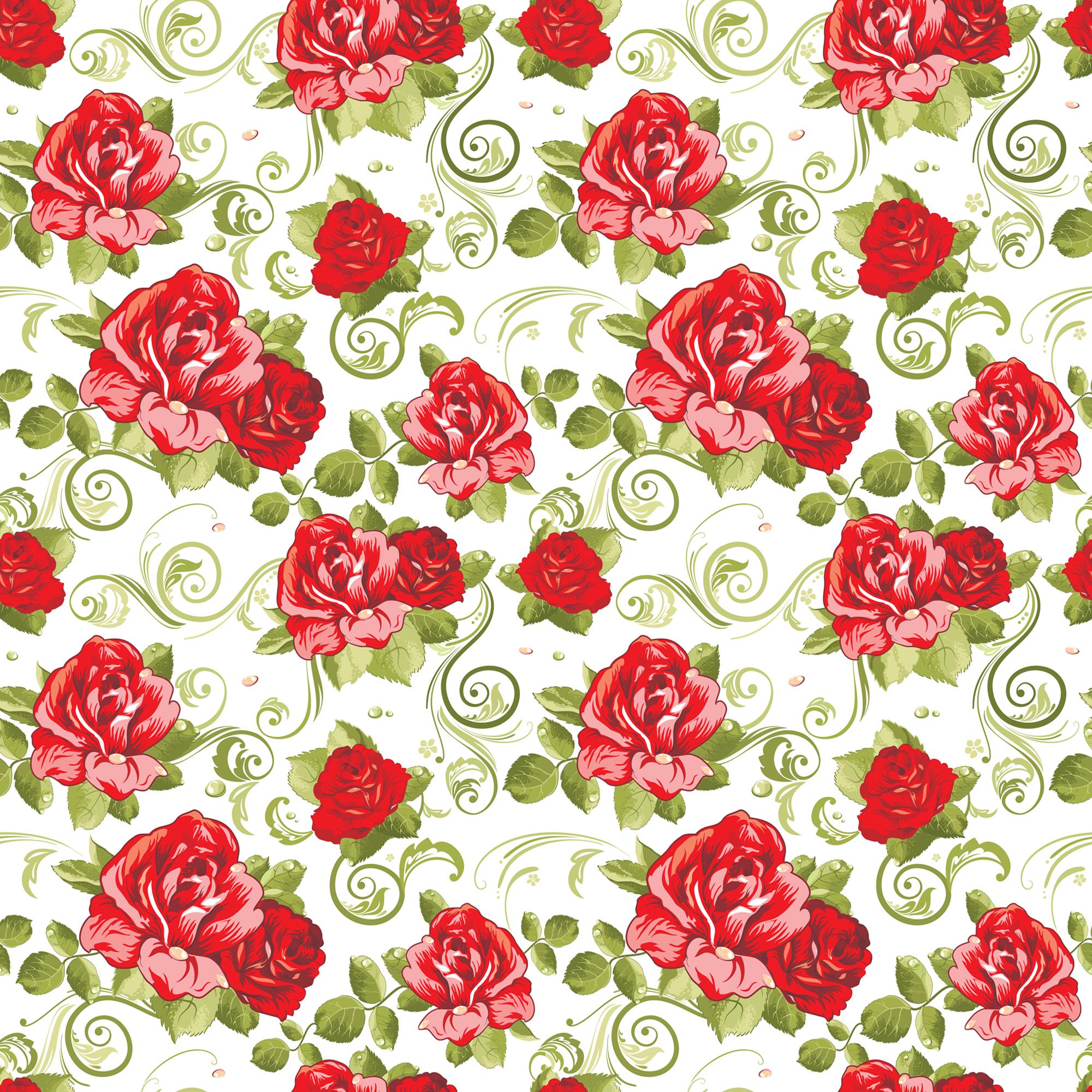 16694 скачать обои Розы, Фон, Рисунки, Цветы, Узоры - заставки и картинки бесплатно