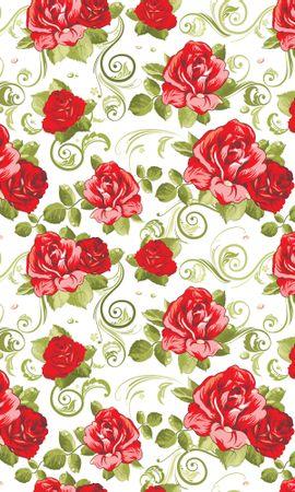 16694 baixar papel de parede Flores, Fundo, Rosas, Imagens, Padrões - protetores de tela e imagens gratuitamente