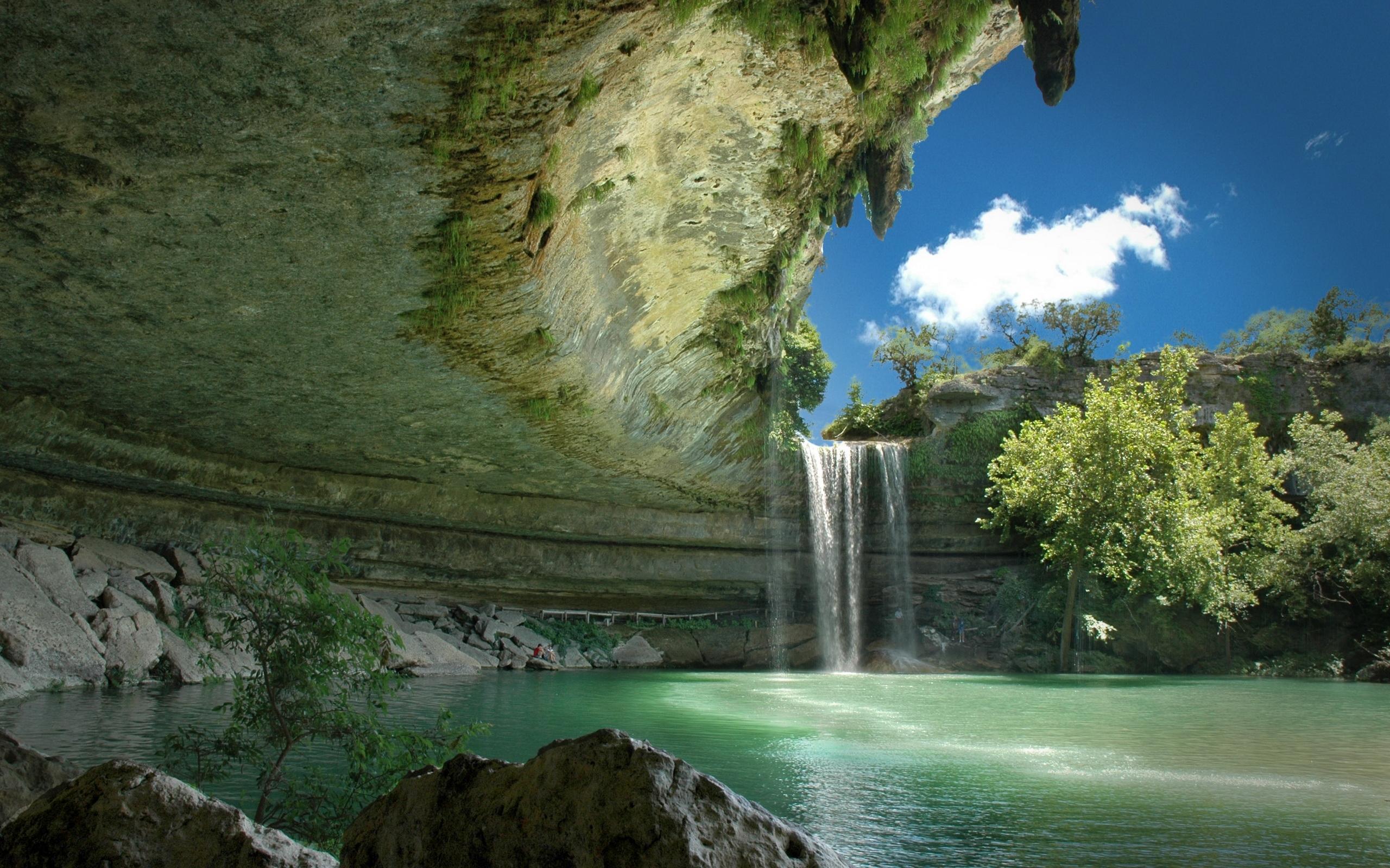 23725 скачать обои Пейзаж, Река, Деревья, Горы, Водопады - заставки и картинки бесплатно