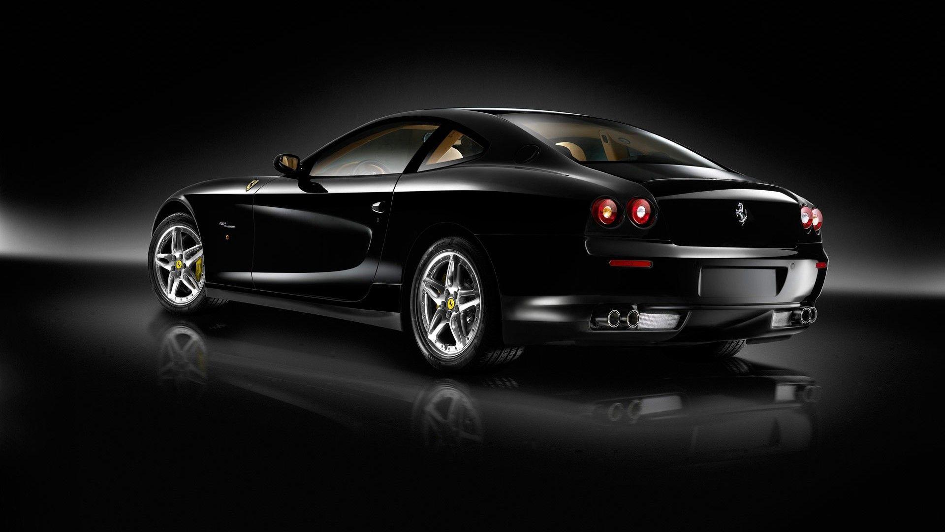 135816 обои 720x1520 на телефон бесплатно, скачать картинки Вид Сбоку, Феррари (Ferrari), Тачки (Cars), Черный, Блеск, Стиль 720x1520 на мобильный