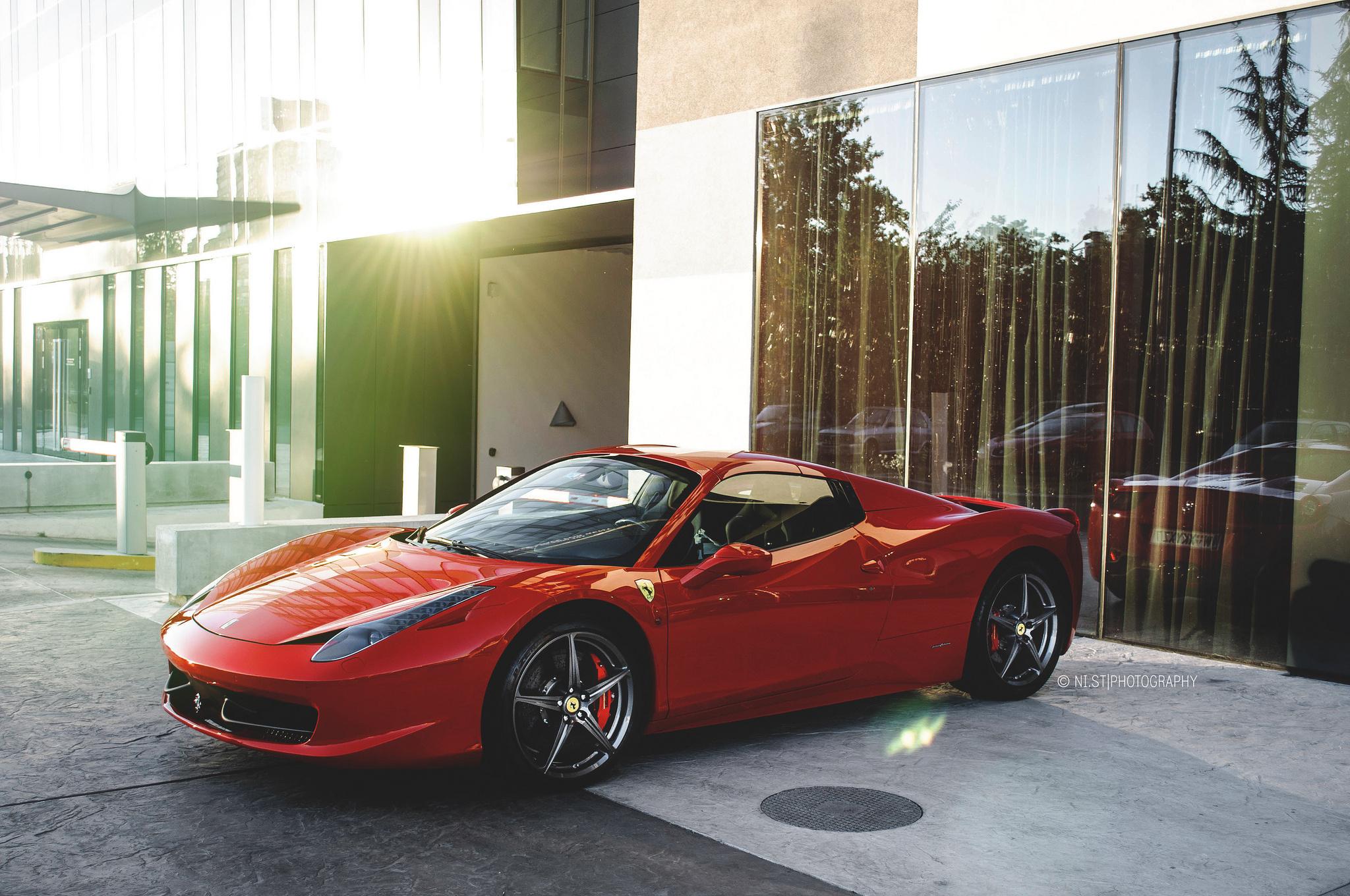 66570 télécharger le fond d'écran Ferrari, Voitures, Vue De Côté, Spyder, 458 - économiseurs d'écran et images gratuitement