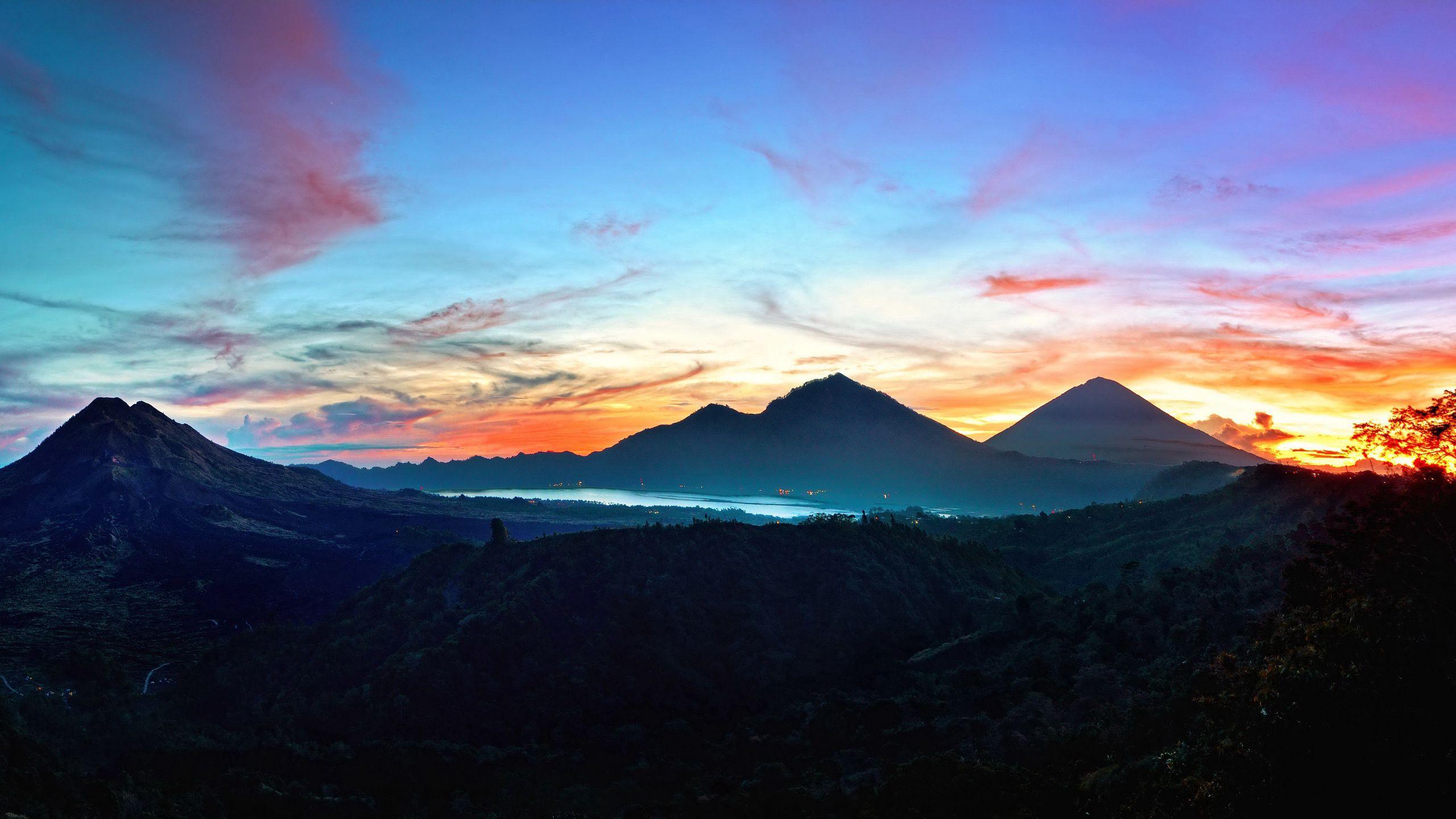 115993 Protetores de tela e papéis de parede Montanhas em seu telefone. Baixe Natureza, Céu, Montanhas, Nascer Do Sol, Bali, Indonésia, Kintamani fotos gratuitamente