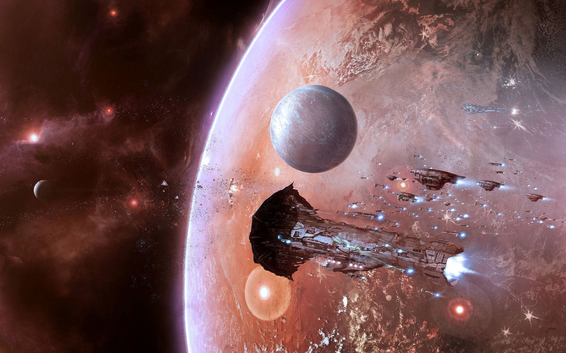 1336 download wallpaper Landscape, Art, Planets, Universe screensavers and pictures for free