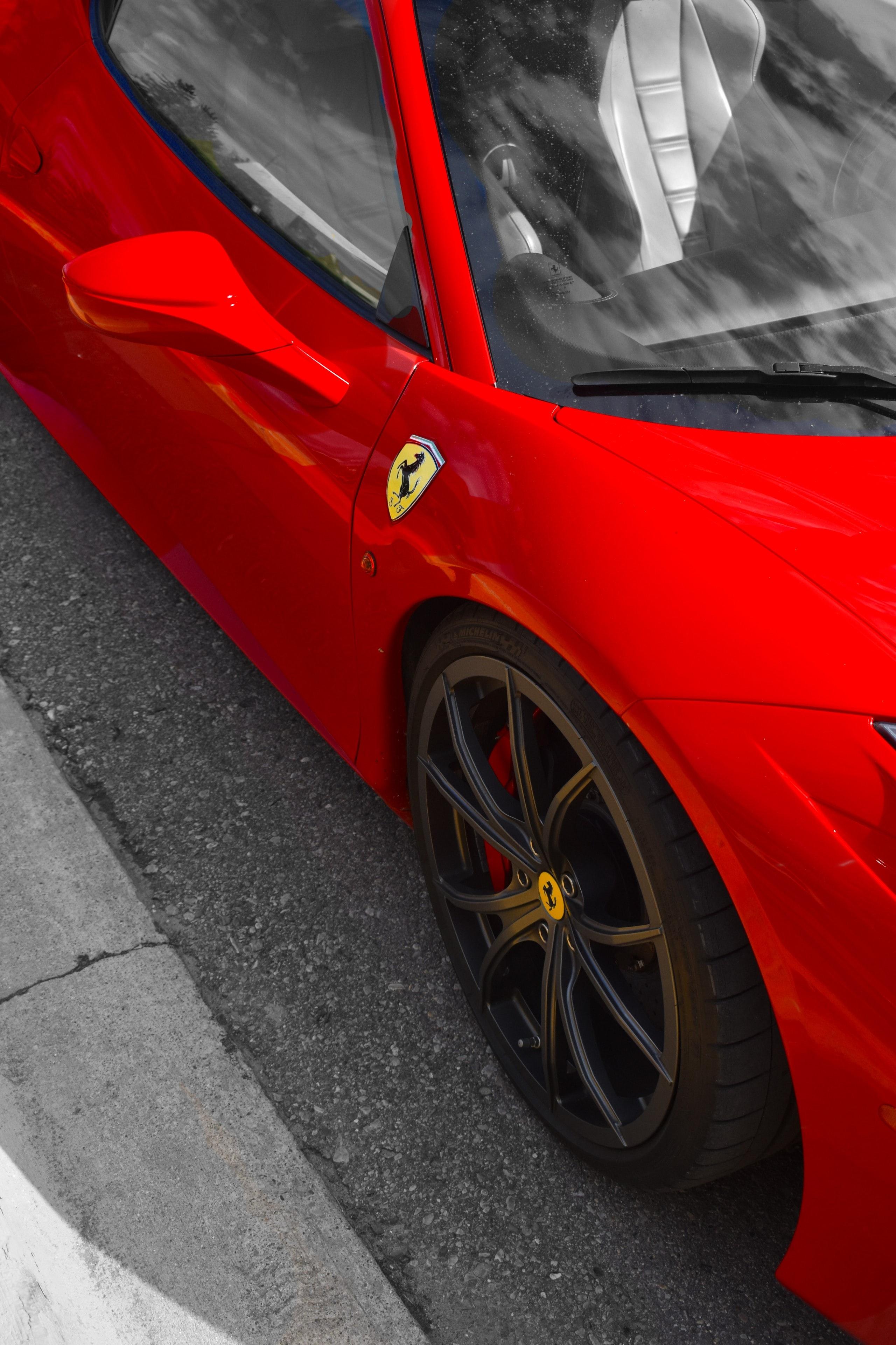 122777 télécharger le fond d'écran Voitures, Ferrari, Voiture De Sport, Sportif, Voiture, Miroir - économiseurs d'écran et images gratuitement