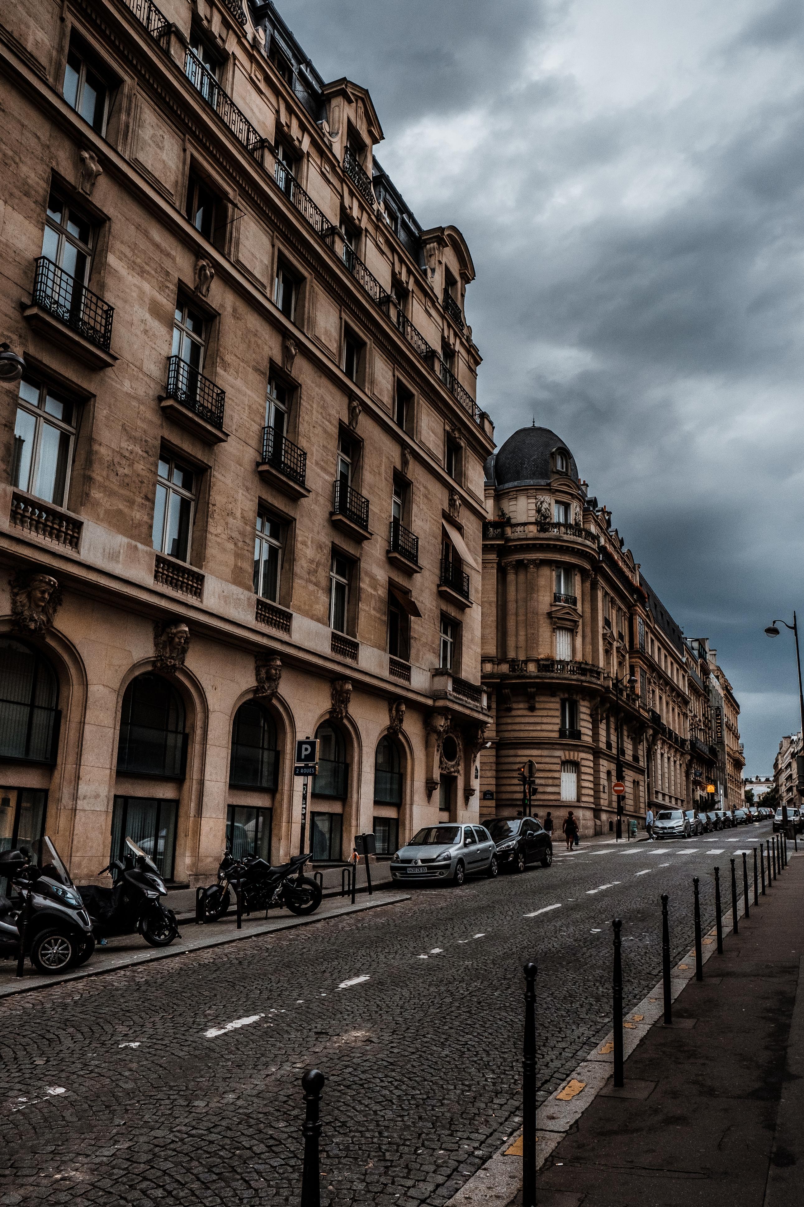 99423壁紙のダウンロード通り, 市, 都市, 建物, 車, パリ, フランス, アーキテクチャ, オートバイ-スクリーンセーバーと写真を無料で