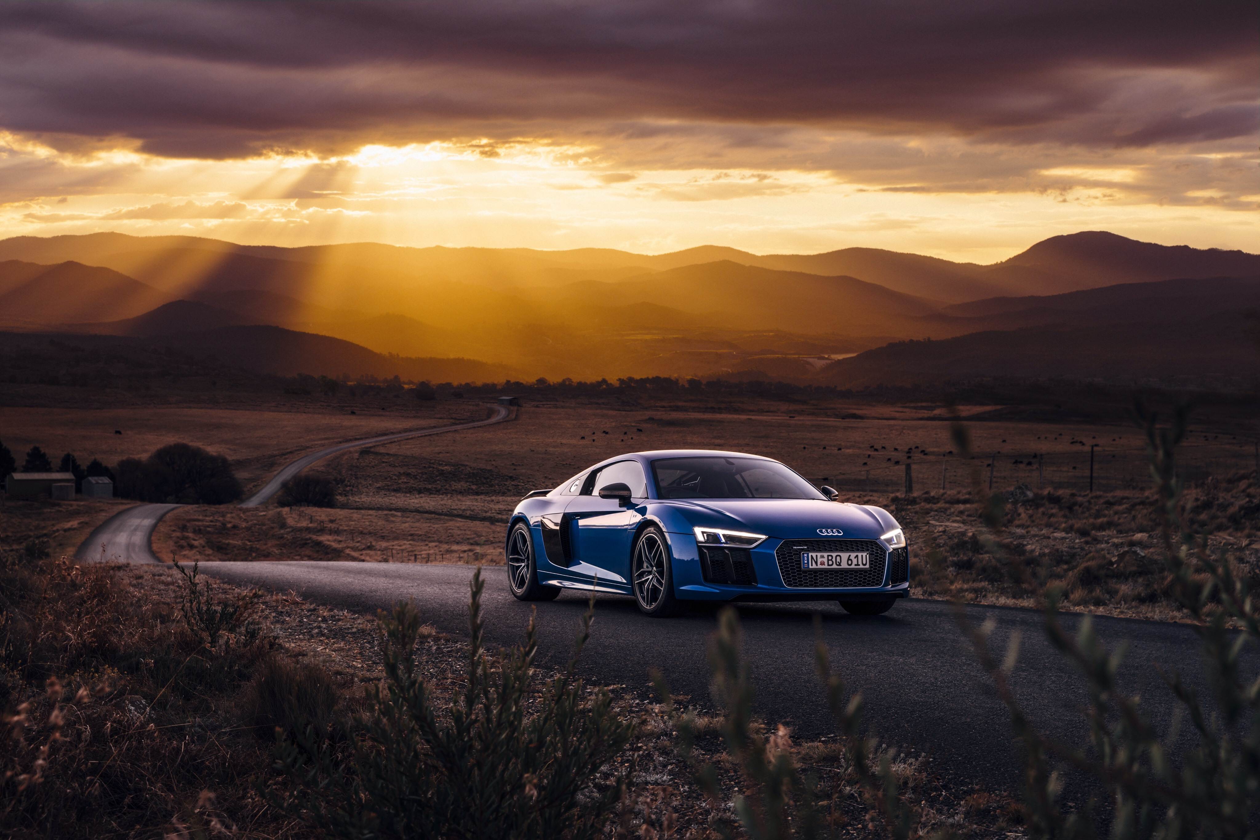 85575 Screensavers and Wallpapers Road for phone. Download Audi, Cars, Road, Side View, R8, V10 pictures for free