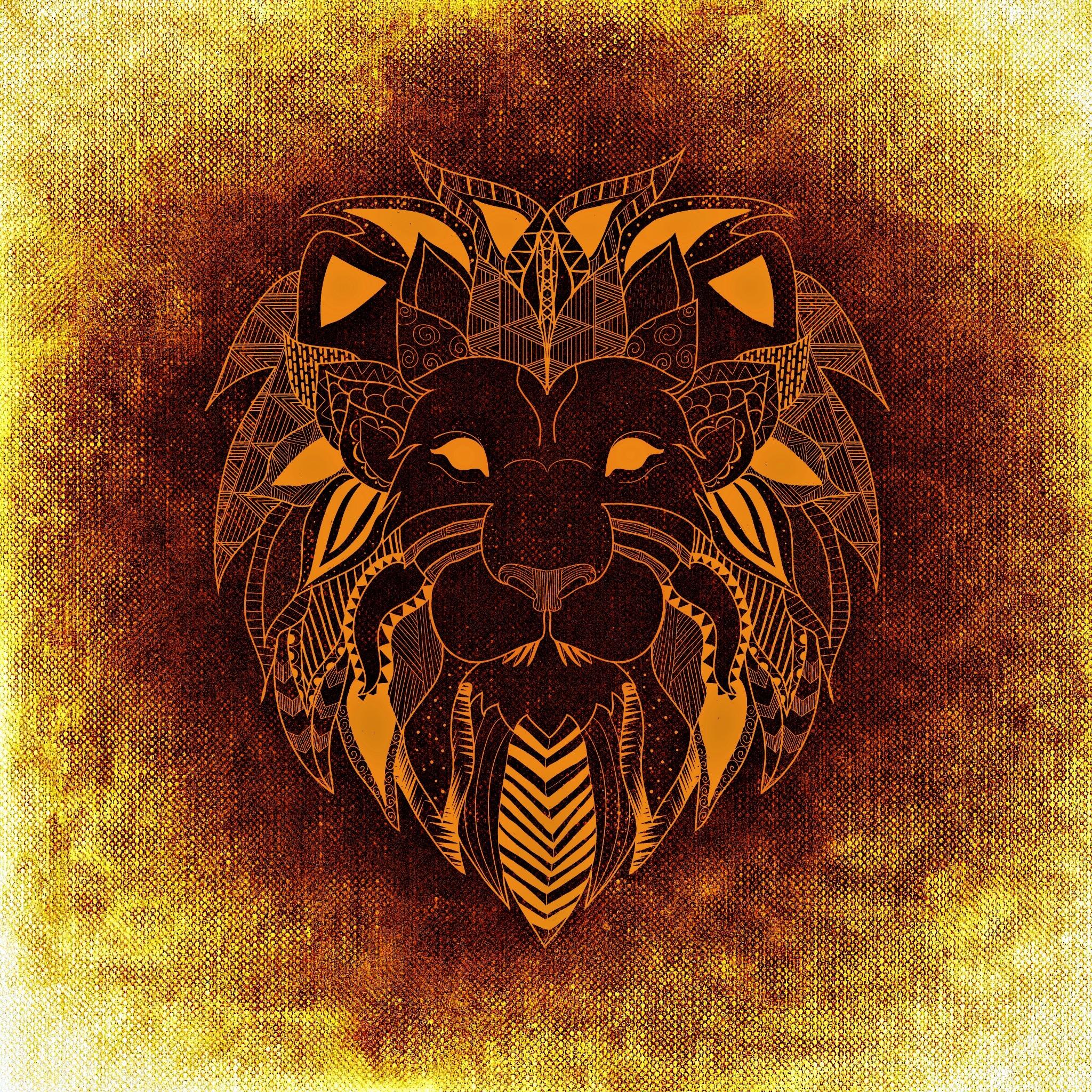 141567 Protetores de tela e papéis de parede Leão em seu telefone. Baixe Arte, Leão, Um Leão, Padronizado, Modelado fotos gratuitamente