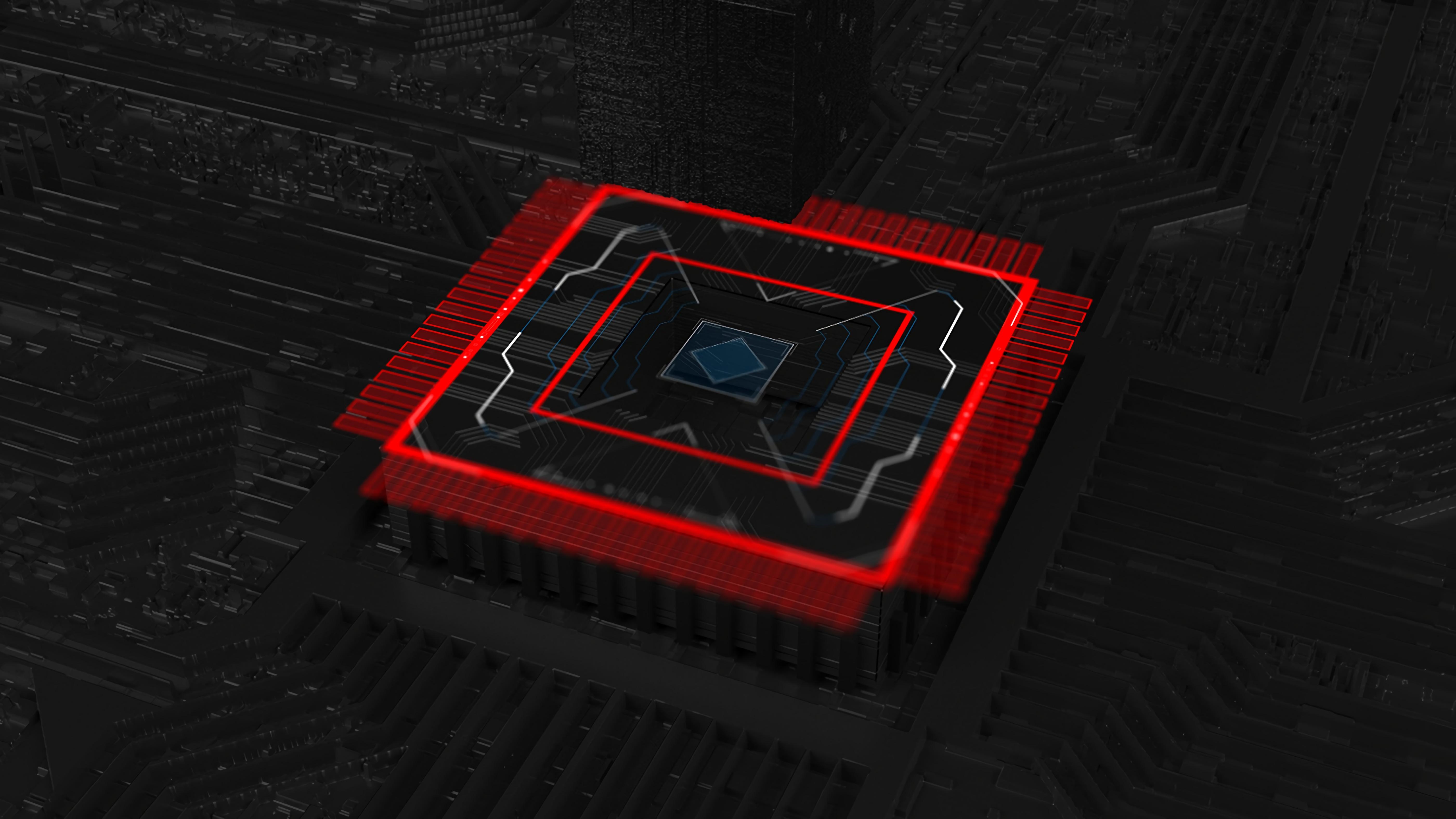 99481 Hintergrundbild herunterladen 3D, Chip, Zentralprozessor, Prozessor, Planen, Schema - Bildschirmschoner und Bilder kostenlos