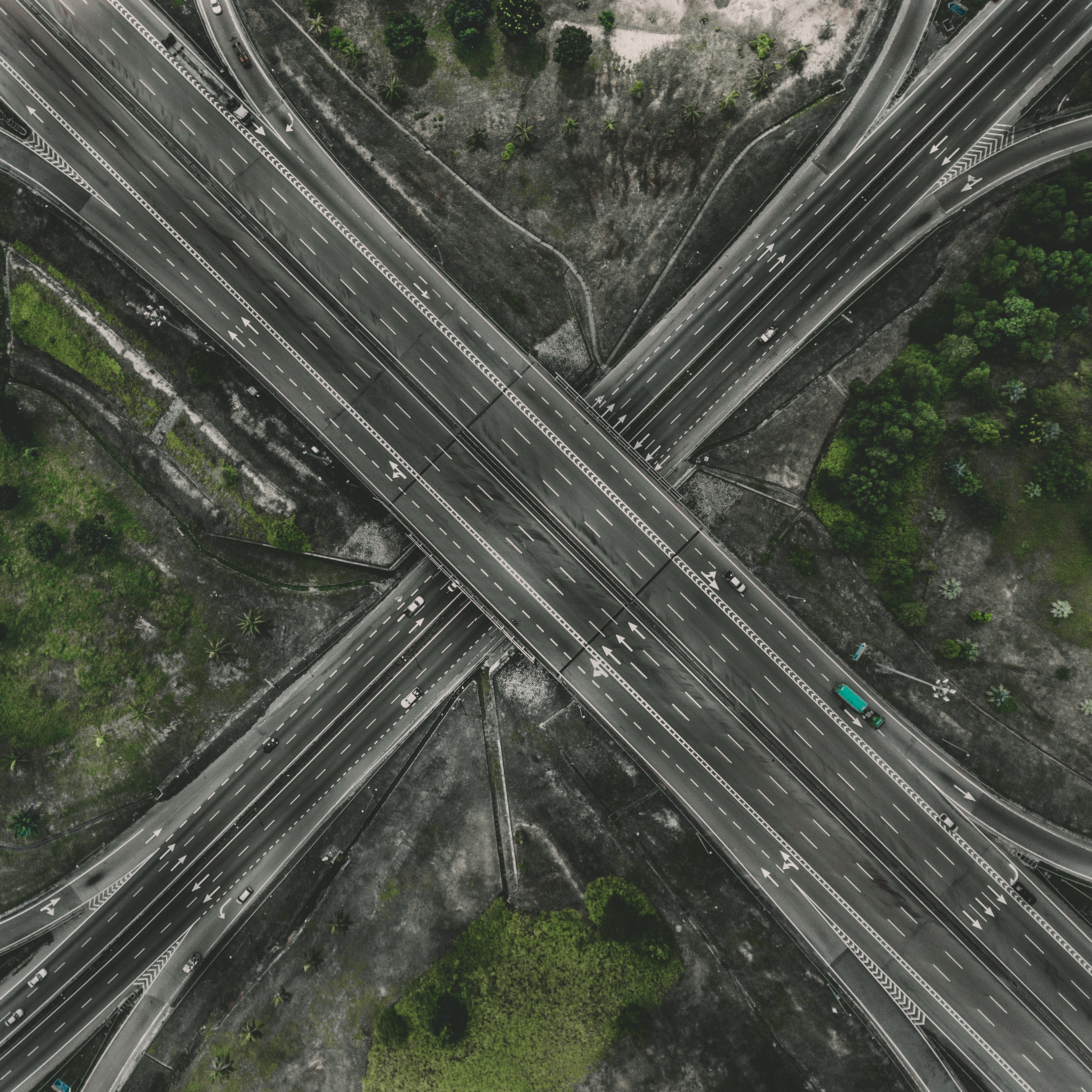 113724 Screensavers and Wallpapers Roads for phone. Download Cities, Roads, View From Above, Traffic, Movement, Direction, Transport Interchange, Interchange pictures for free