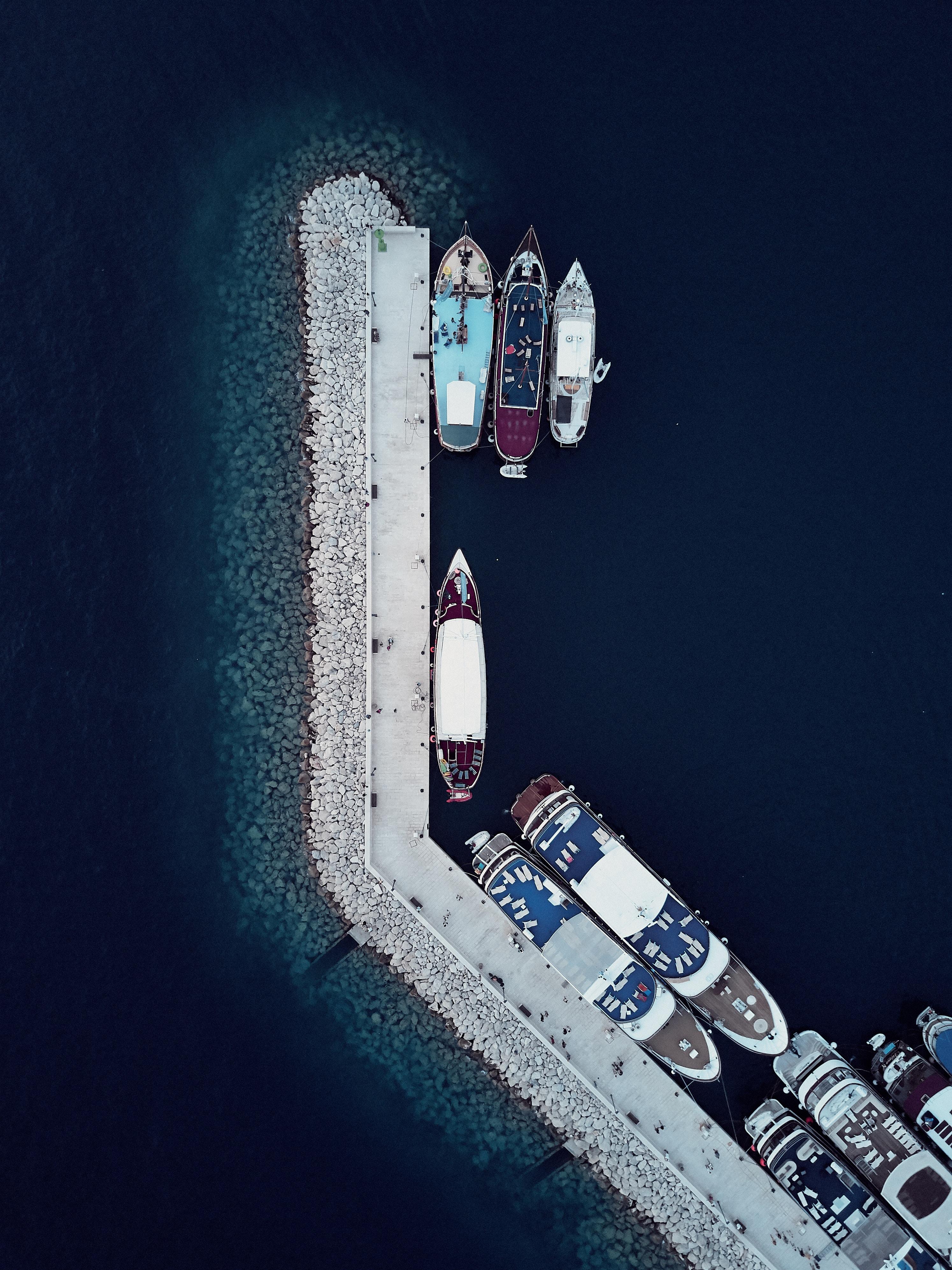 88139 Заставки и Обои Лодки на телефон. Скачать Природа, Пирс, Причал, Лодки, Вид Сверху картинки бесплатно
