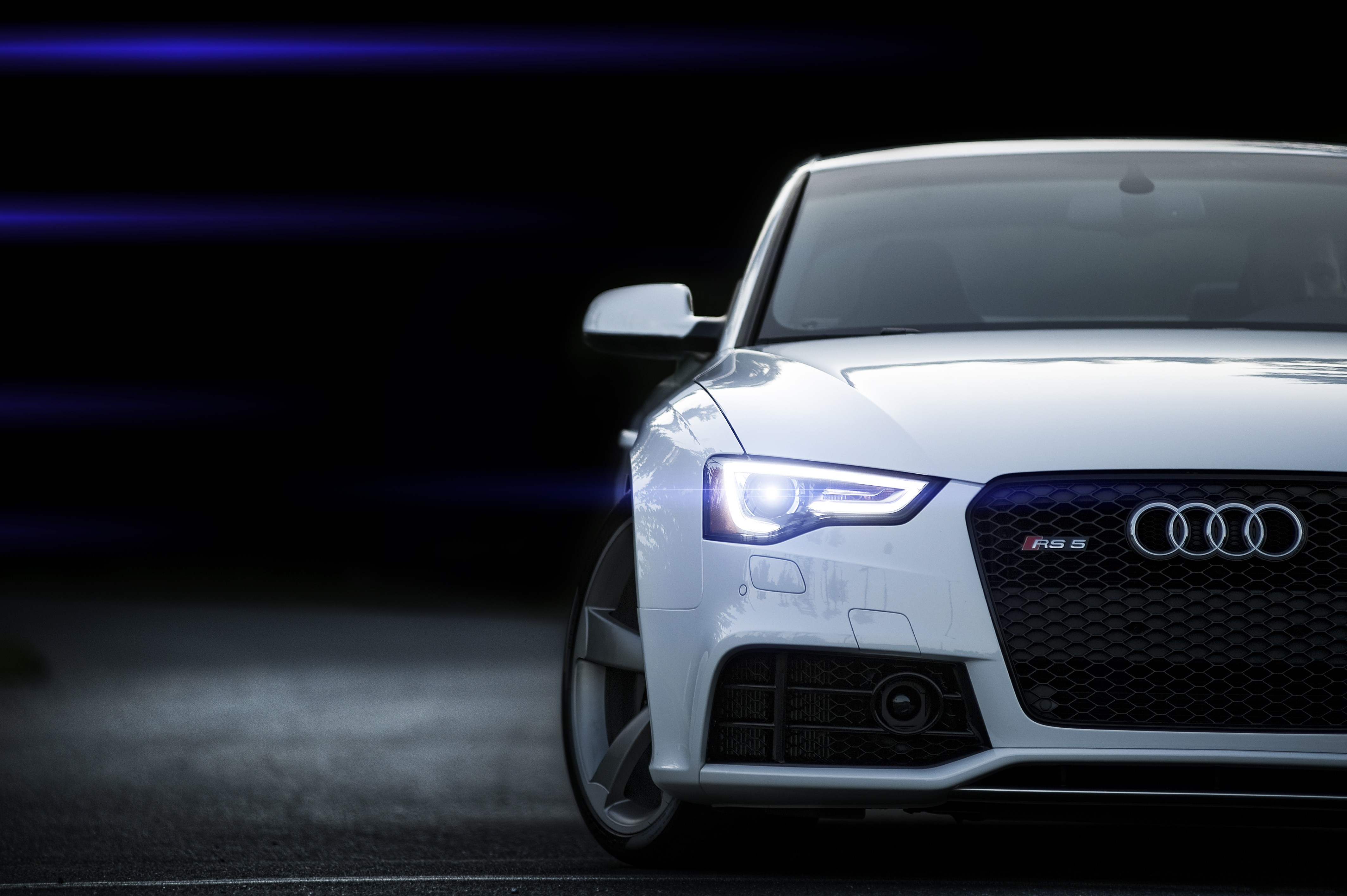133418 Заставки и Обои Вид Спереди на телефон. Скачать Ауди (Audi), Вид Спереди, Тачки (Cars), Белый, Rs5 картинки бесплатно