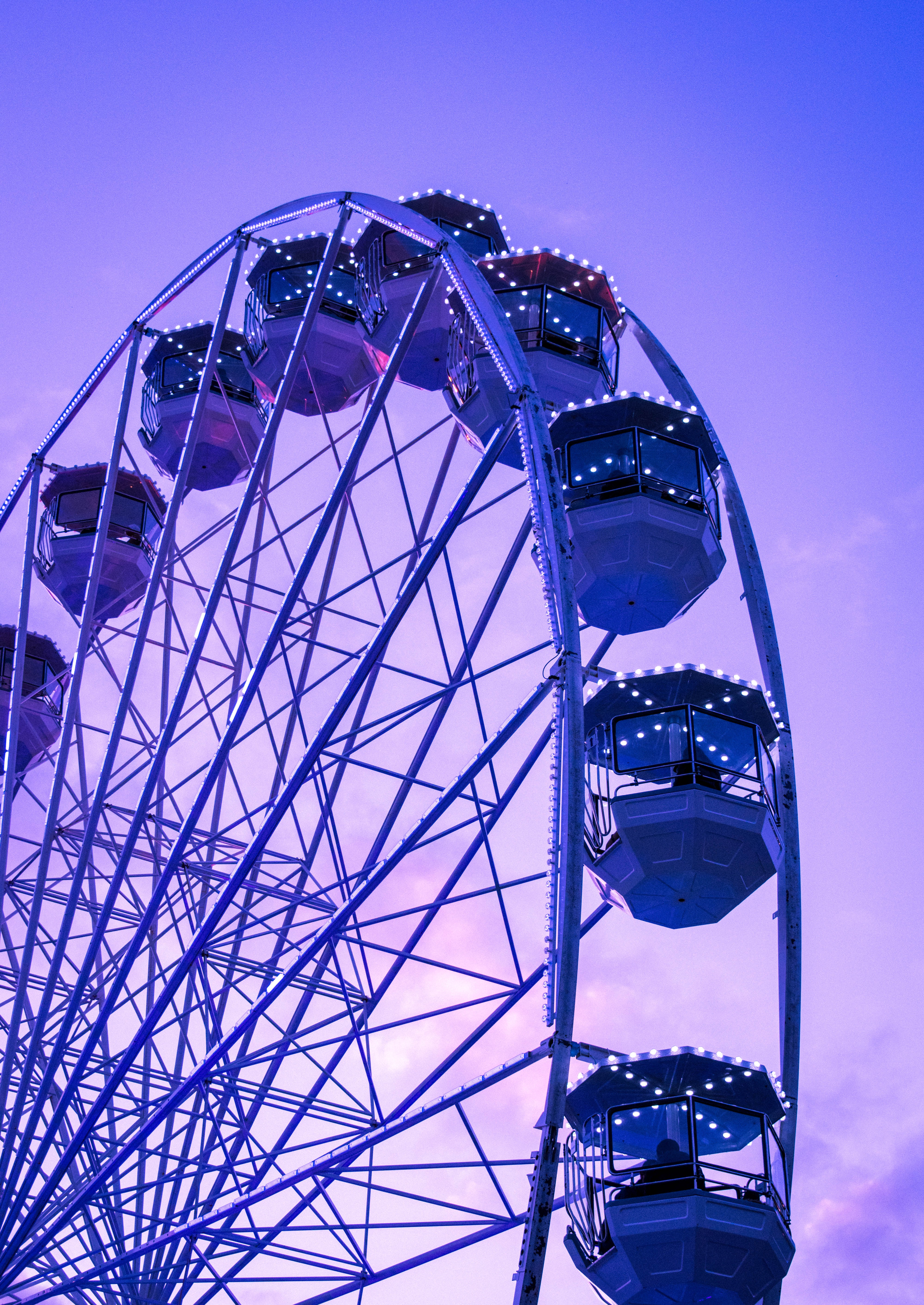 151890 Screensavers and Wallpapers Purple for phone. Download Violet, Miscellanea, Miscellaneous, Design, Construction, Purple, Ferris Wheel pictures for free