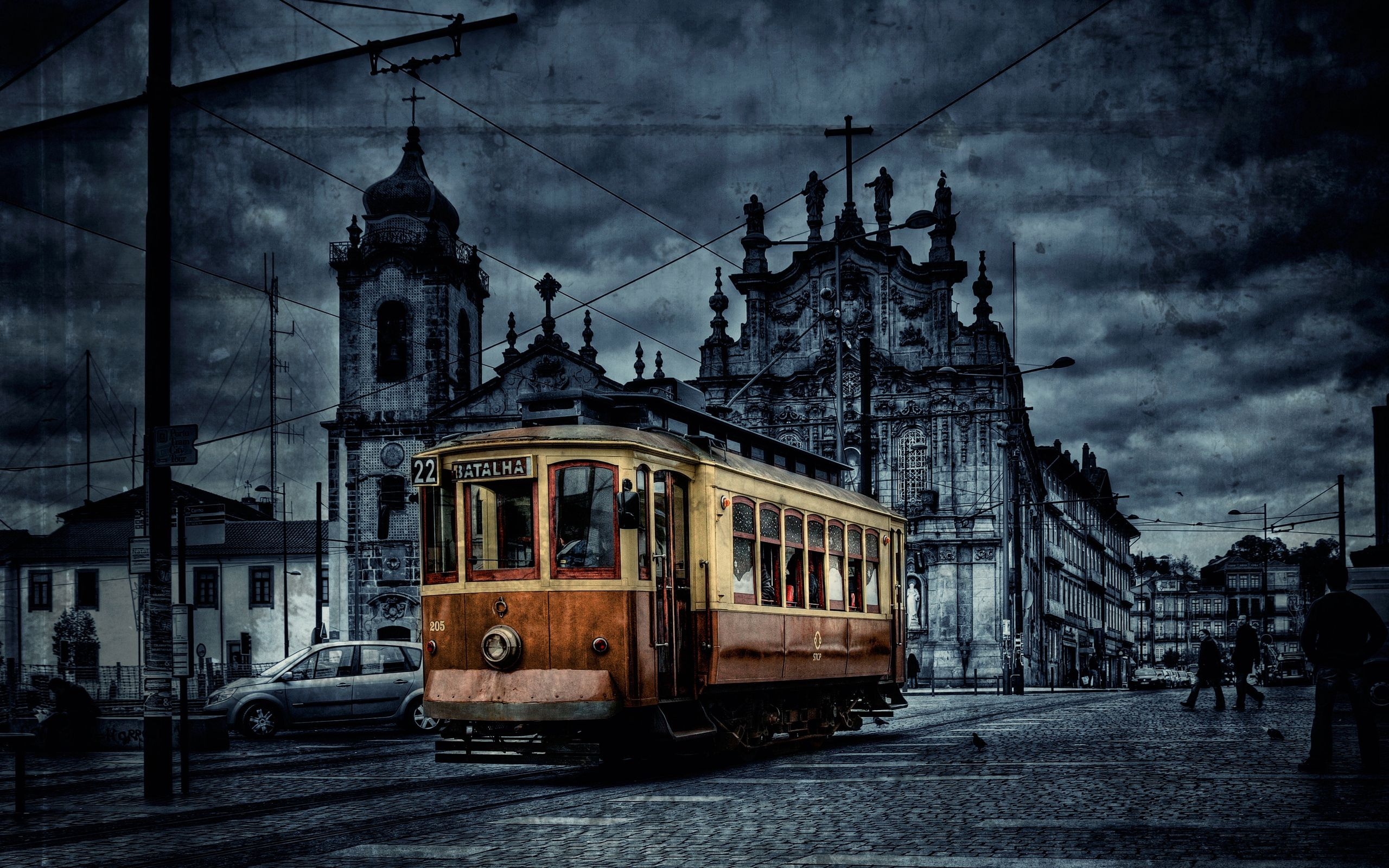 98680 Screensavers and Wallpapers Color for phone. Download Cities, City, Color, Hdr, Tram pictures for free