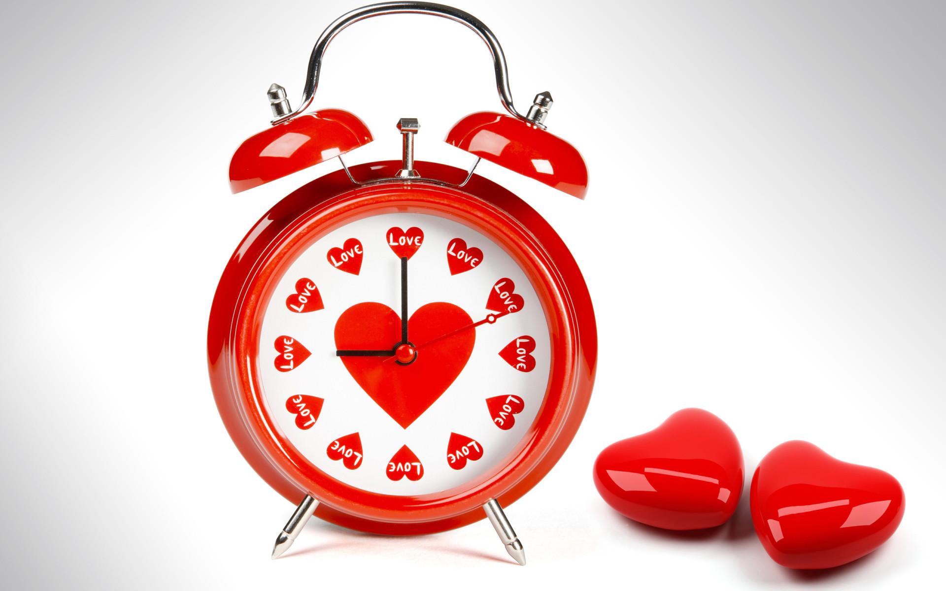 11497 скачать обои Праздники, Сердца, Любовь, День Святого Валентина (Valentine's Day), Часы - заставки и картинки бесплатно
