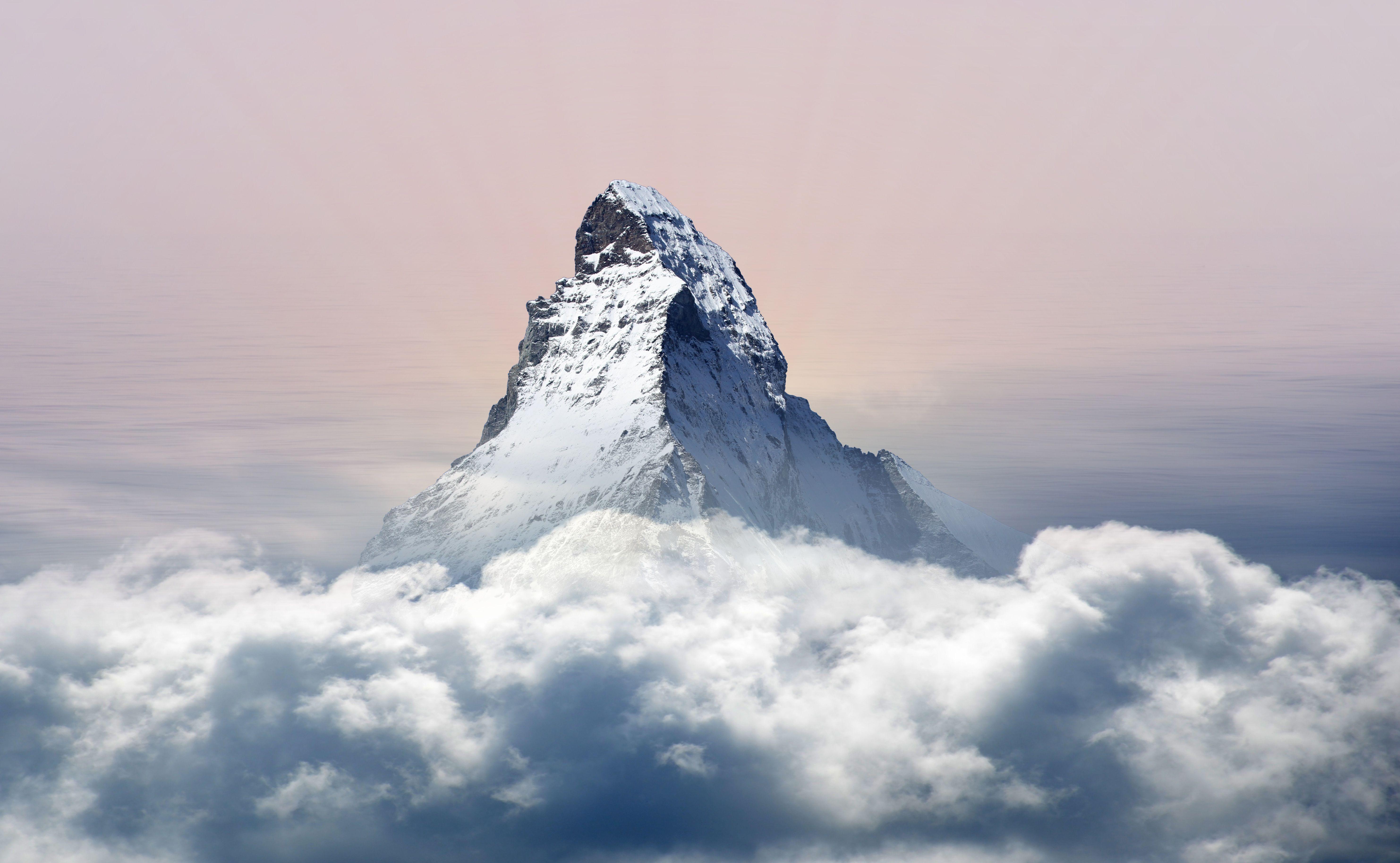免費壁紙55529:性质, 山, 戈拉, 顶点, 云, 顶峰, 高峰, 雪覆盖, 白雪覆盖 下載手機圖片