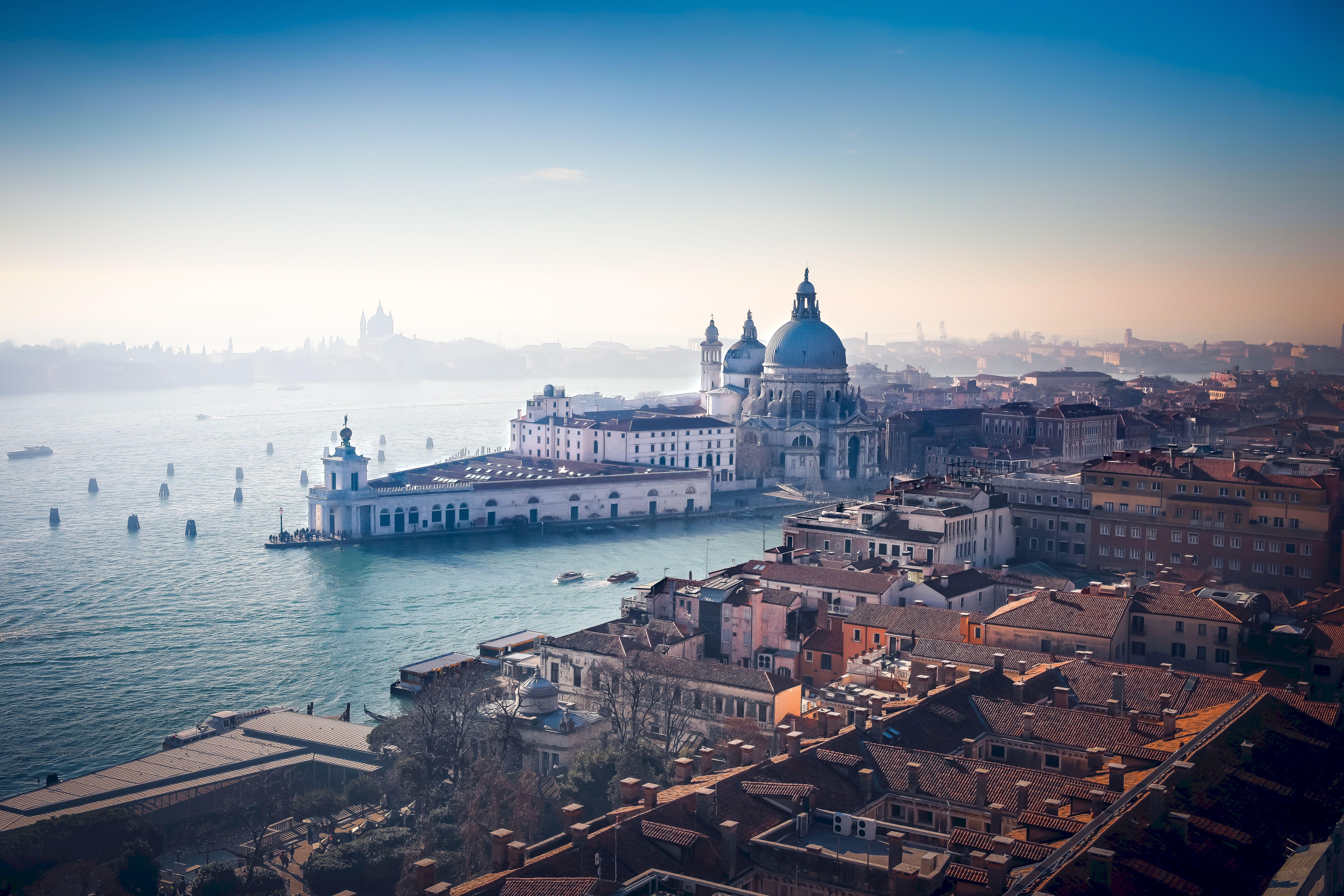 108924 скачать обои Архитектура, Города, Италия, Венеция, Река, Вид Сверху, Канал - заставки и картинки бесплатно
