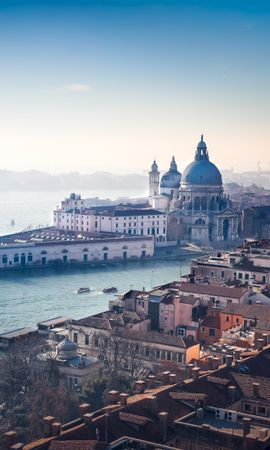 108924 Screensavers and Wallpapers Architecture for phone. Download View From Above, Rivers, Channel, Italy, Architecture, Cities, Venice pictures for free