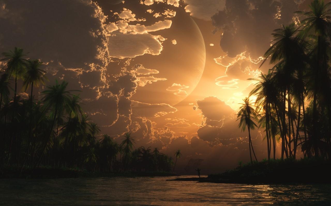 16439 скачать обои Пейзаж, Закат, Небо, Солнце - заставки и картинки бесплатно