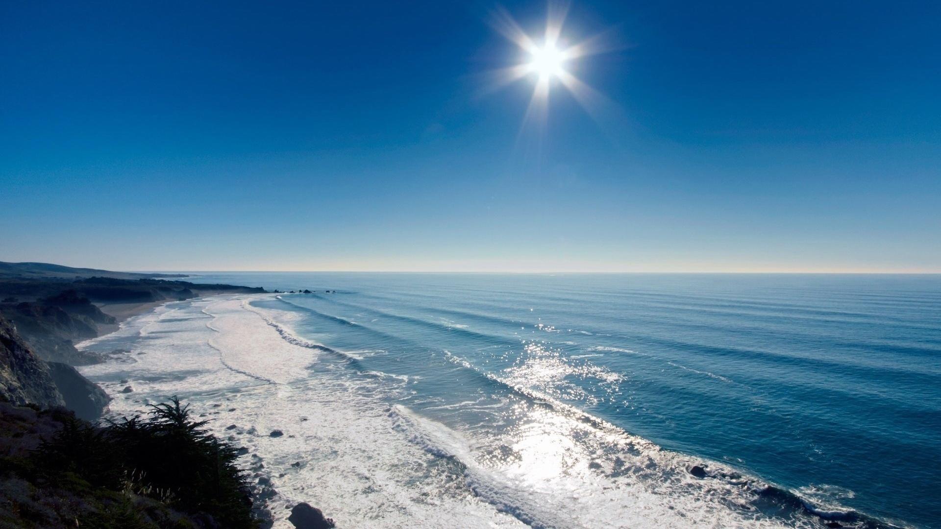 26055 скачать обои Пейзаж, Море, Солнце, Волны - заставки и картинки бесплатно