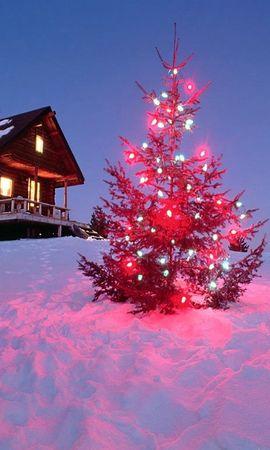 9085 скачать обои Праздники, Пейзаж, Зима, Новый Год (New Year), Елки, Рождество (Christmas, Xmas) - заставки и картинки бесплатно