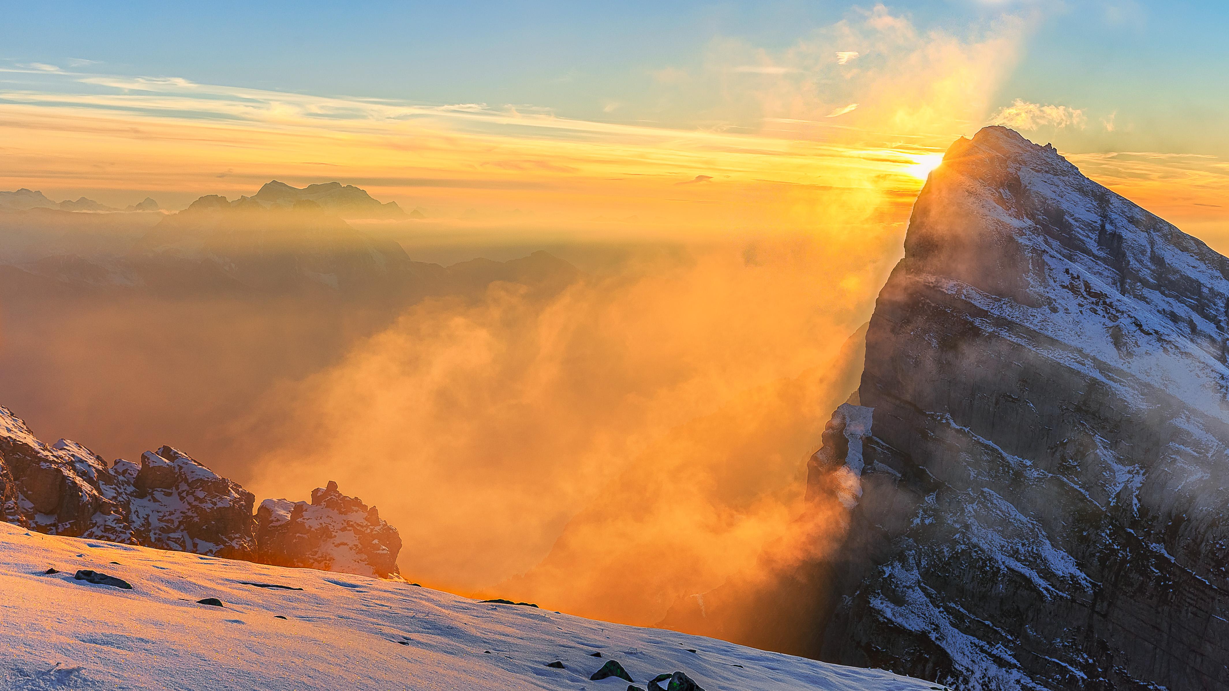92800 papel de parede 1080x2400 em seu telefone gratuitamente, baixe imagens Natureza, Montanhas, Sol, As Rochas, Rochas, Névoa, Nevoeiro 1080x2400 em seu celular