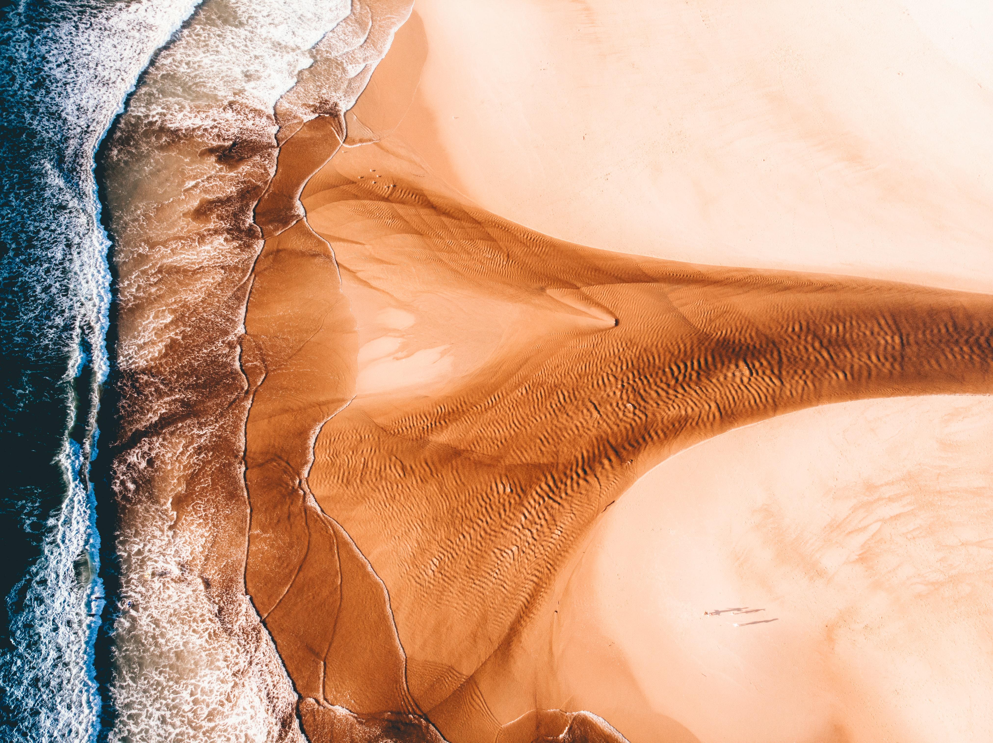 131360壁紙のダウンロード自然, 海, ビーチ, 海岸, 上から見る, サンド-スクリーンセーバーと写真を無料で