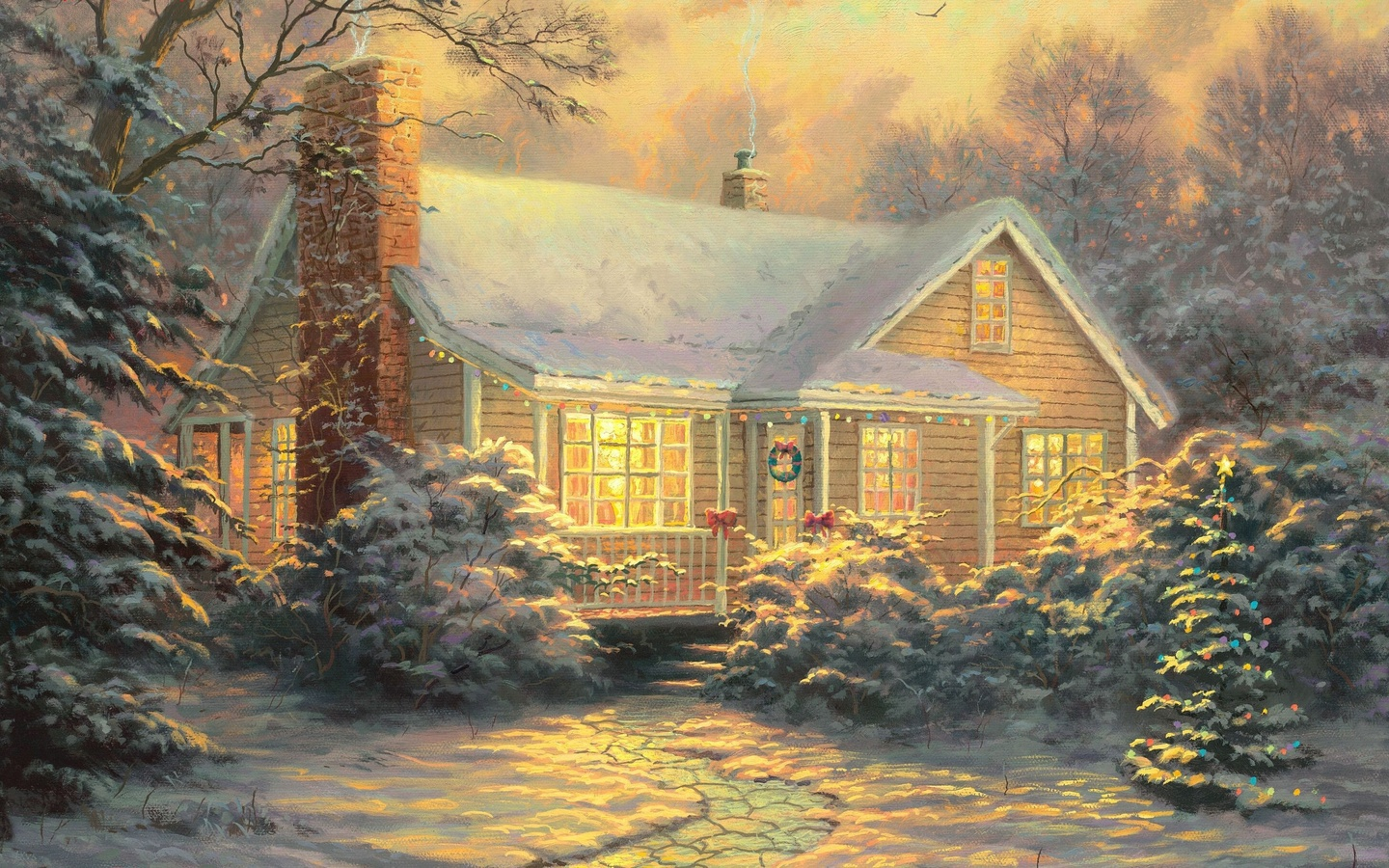 36307 download wallpaper Holidays, Houses, Christmas, Xmas, Pictures screensavers and pictures for free