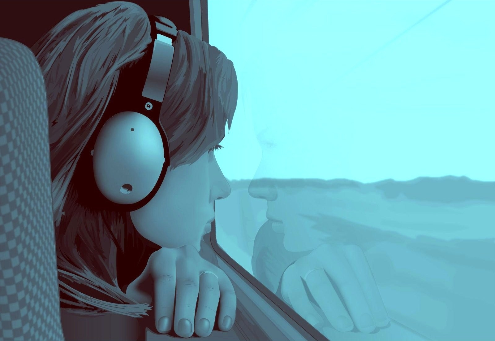 56822 Screensavers and Wallpapers Guy for phone. Download Headphones, Vector, Girl, Window, Loneliness, Guy pictures for free