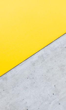 114950 завантажити Жовтий шпалери на телефон безкоштовно, Мінімалізм, Кут, Трикутник Жовтий картинки і заставки на мобільний