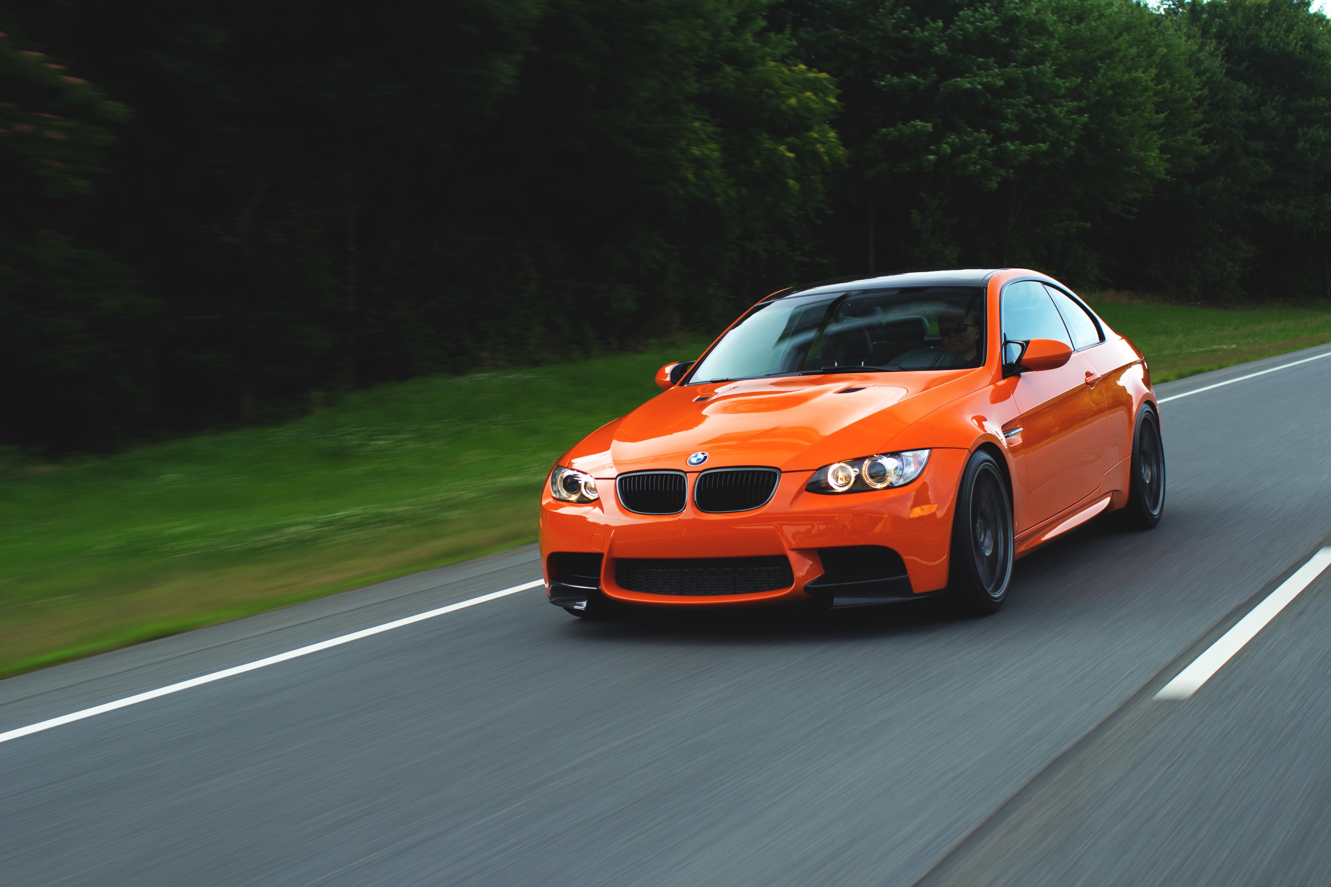148242 скачать обои Тачки (Cars), Бмв, E92, Speed, Бмв (Bmw), Оранжевый, M3 - заставки и картинки бесплатно