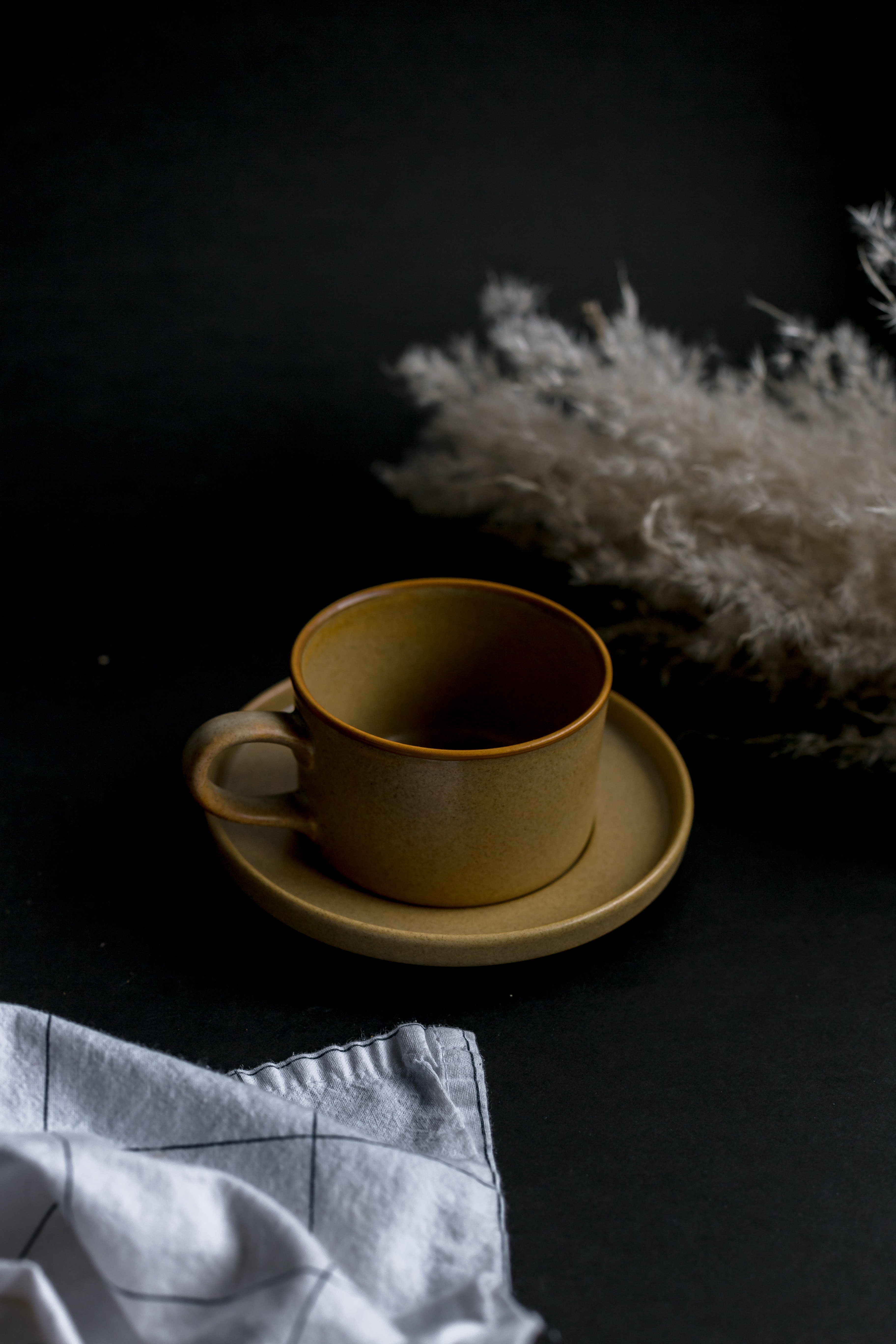 97564 Screensavers and Wallpapers Still Life for phone. Download Still Life, Miscellanea, Miscellaneous, Cup, Ears, Spikes, Napkin, Mug, Saucer pictures for free