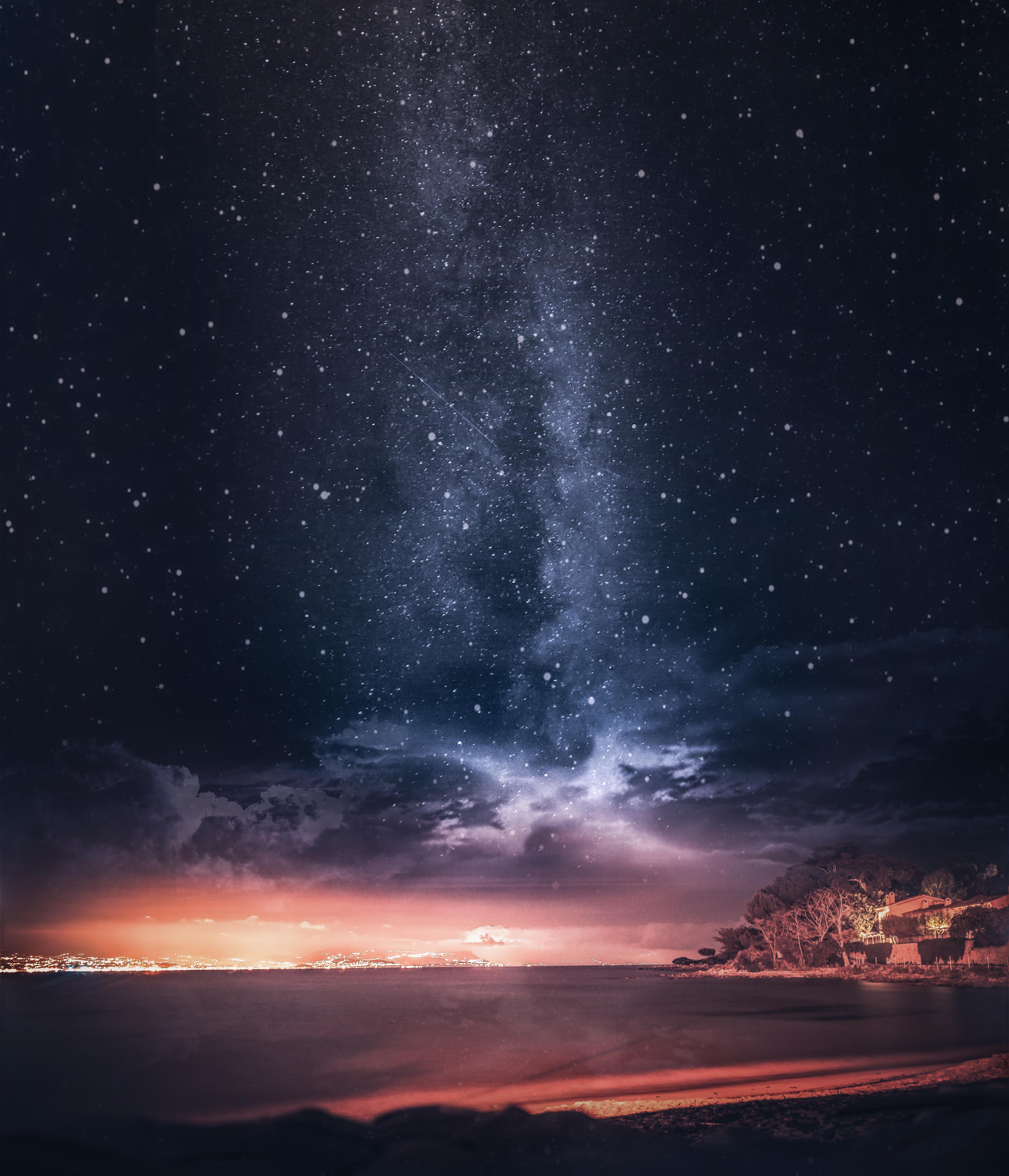 147620壁紙のダウンロード自然, 海, 日没, 星空, 地平線, フランス-スクリーンセーバーと写真を無料で