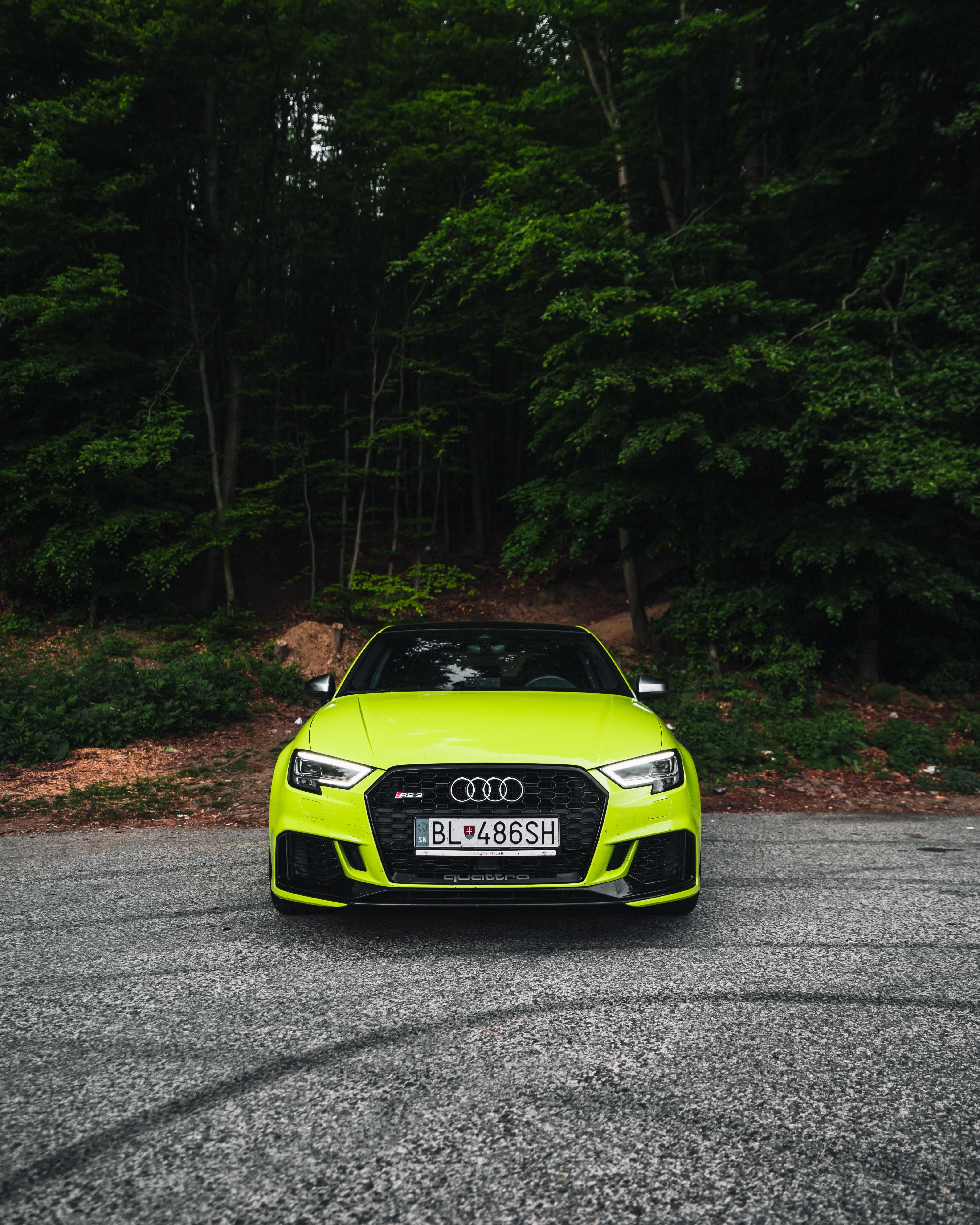 136857 скачать обои Ауди (Audi), Тачки (Cars), Автомобиль, Вид Спереди, Спорткар, Зеленый, Audi Rs4 - заставки и картинки бесплатно