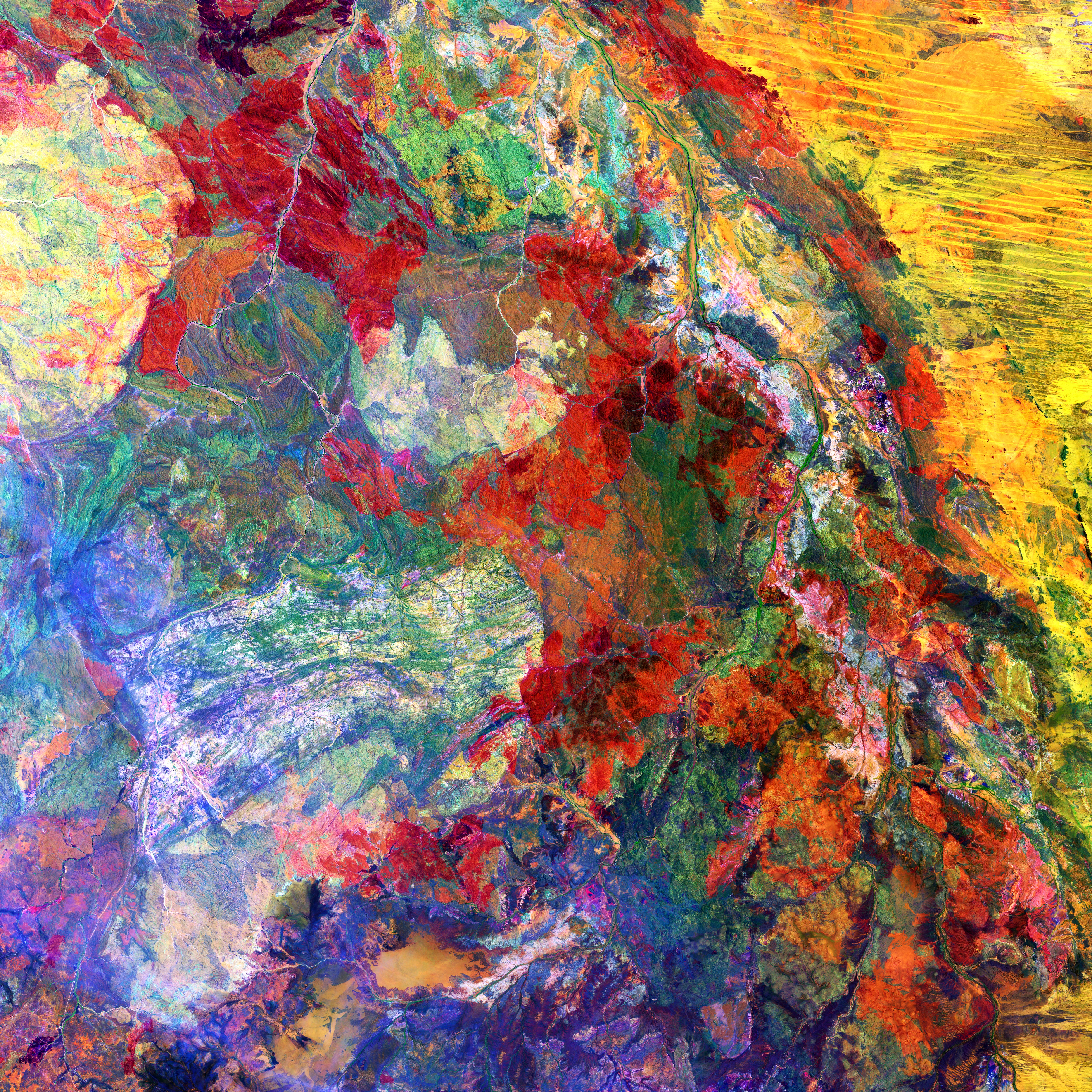 89040 download wallpaper Abstract, Land, Earth, View From Above, Abstraction, Stains, Spots, Multicolored, Motley screensavers and pictures for free