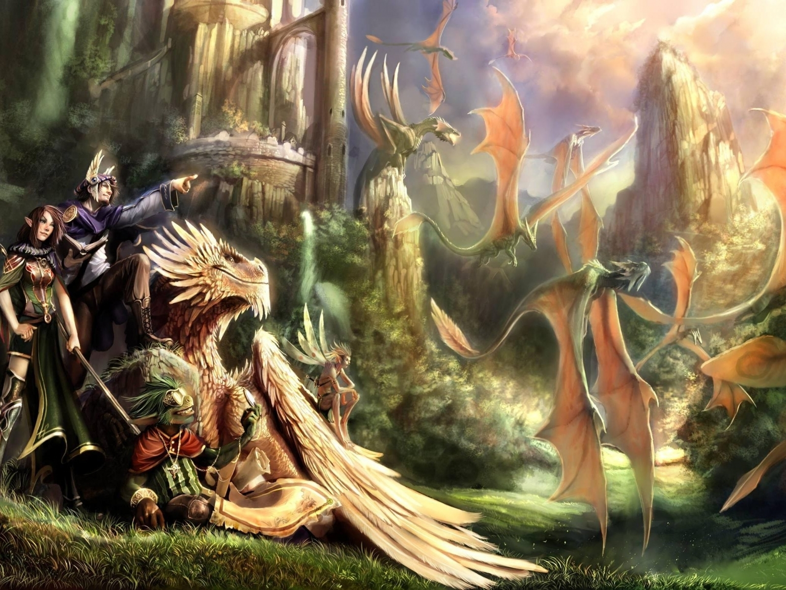 5210 download wallpaper Fantasy, Dragons screensavers and pictures for free