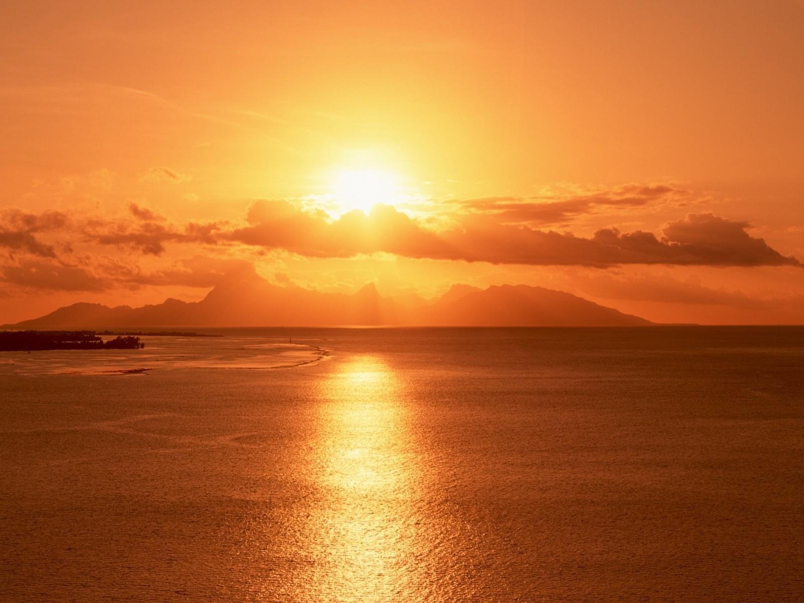 26057 免費下載壁紙 景观, 日落, 海, 云 屏保和圖片
