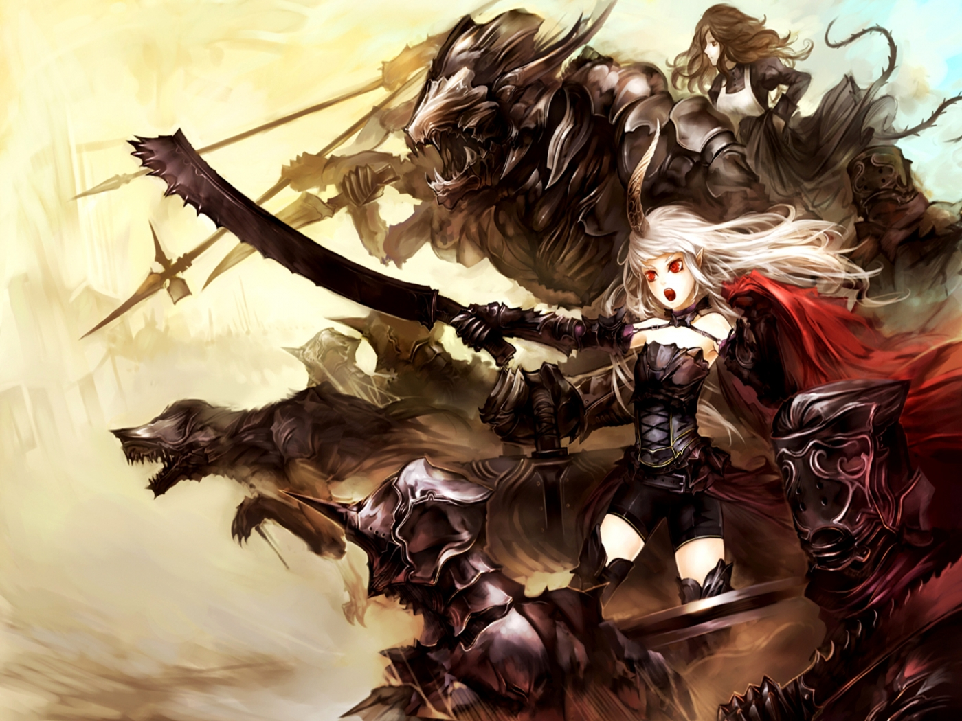 32888 Screensavers and Wallpapers Demons for phone. Download Anime, Girls, Demons pictures for free