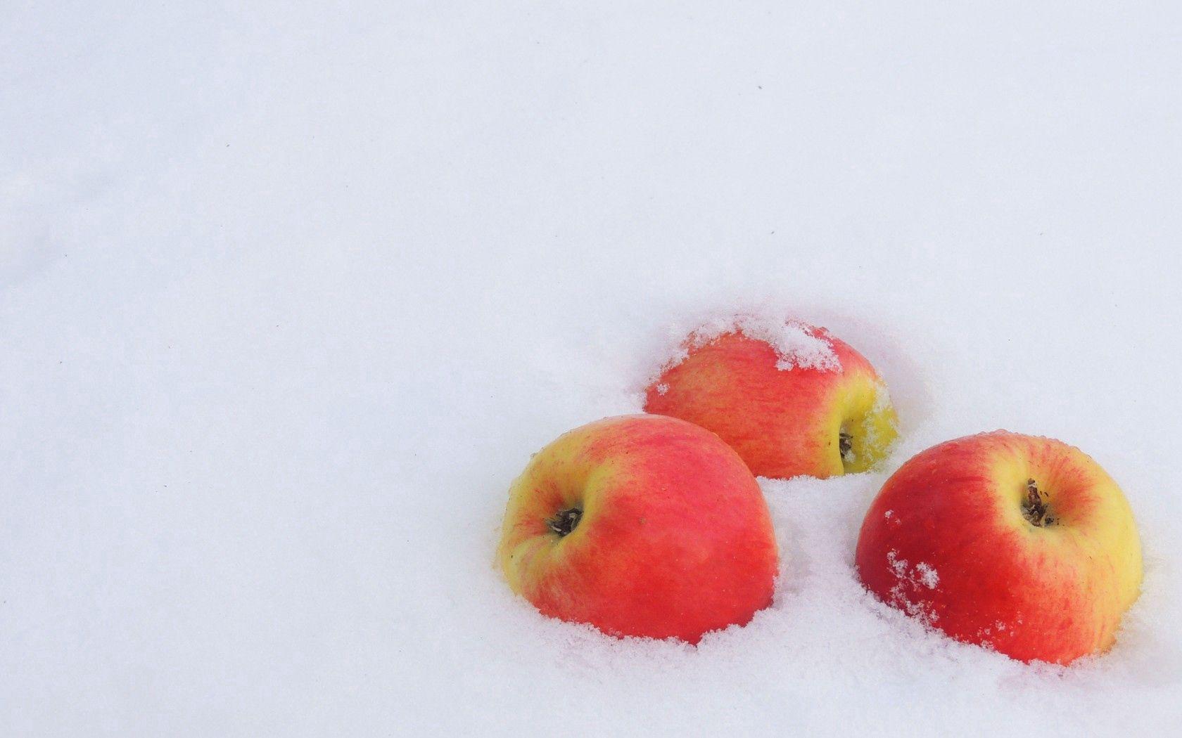 62370 免費下載壁紙 极简主义, 冬天, 雪, 霜, 霜冻, 新年, 苹果 屏保和圖片