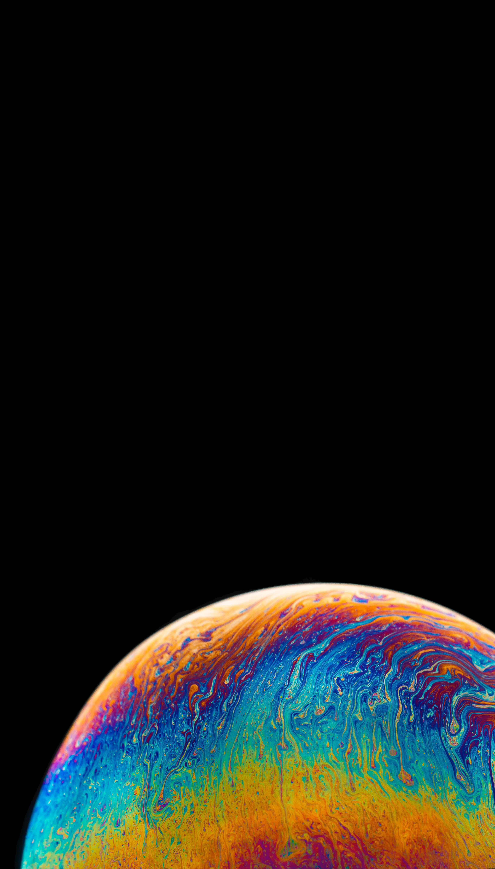 132487 Hintergrundbild 128x160 kostenlos auf deinem Handy, lade Bilder Abstrakt, Dunkel, Mehrfarbig, Motley, Farbe, Flecken, Spots, Ball, Planet, Planeten 128x160 auf dein Handy herunter