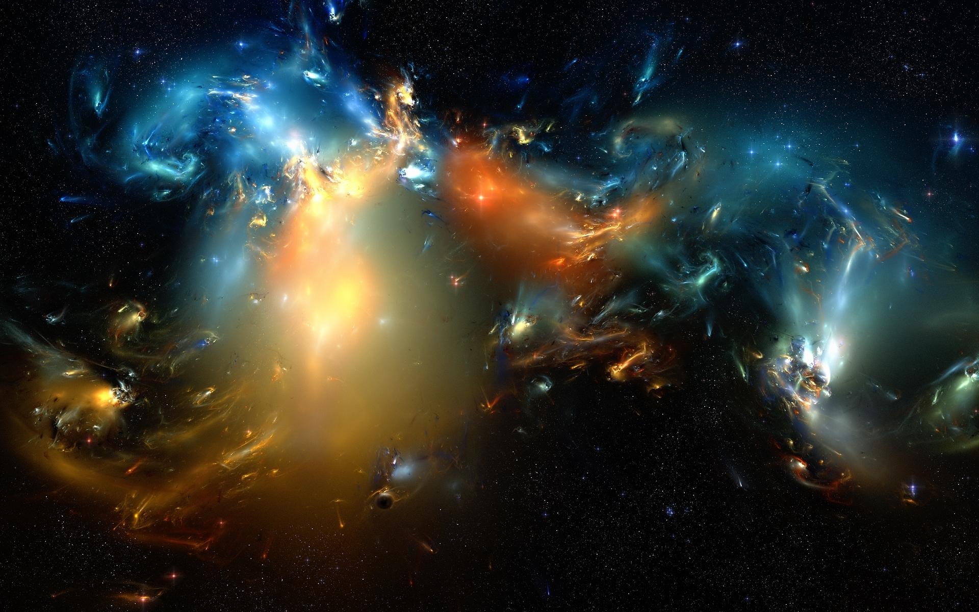 Скачать картинку Пейзаж, Фон, Космос в телефон бесплатно.