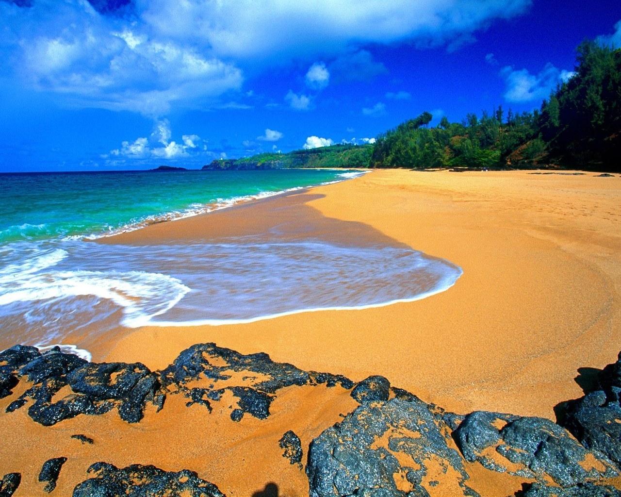 8178 скачать обои Пейзаж, Природа, Камни, Небо, Море, Облака, Песок - заставки и картинки бесплатно