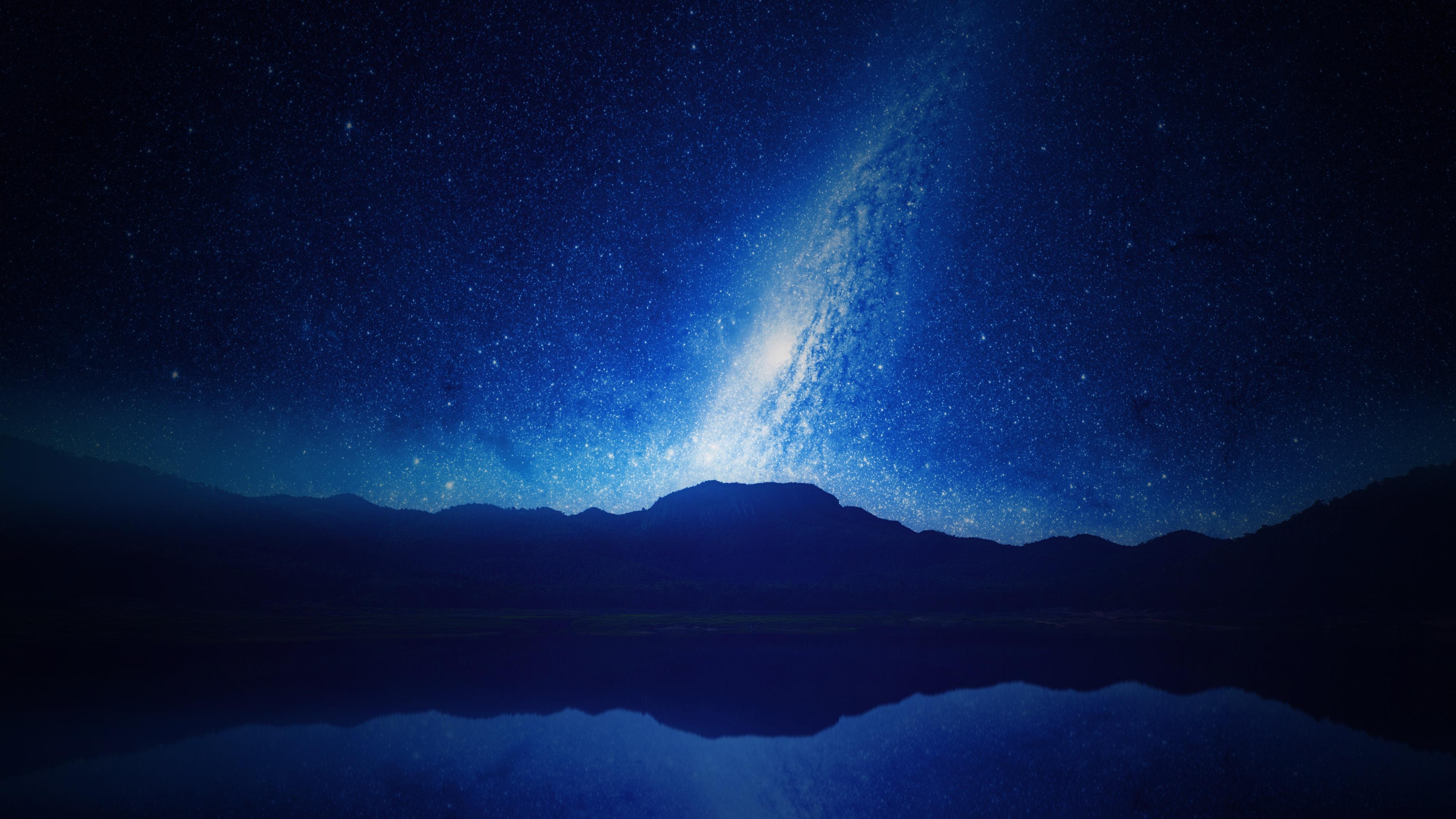 114503壁紙のダウンロード星空, 天の川, ナイト, 山脈, 宇宙-スクリーンセーバーと写真を無料で