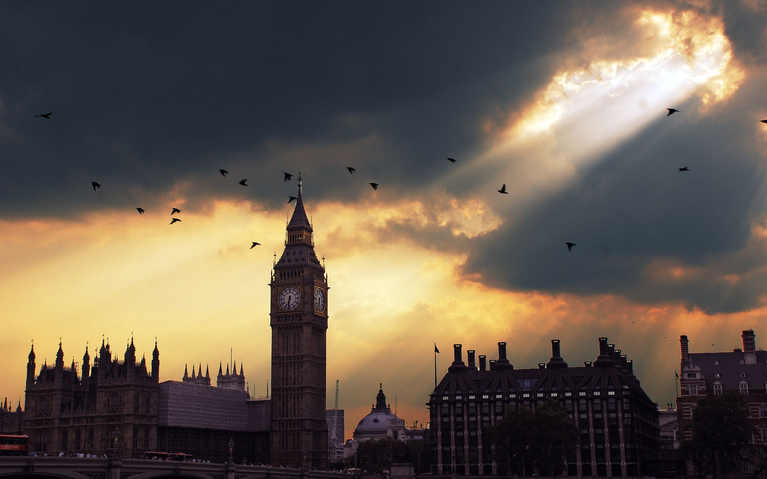 76500 download wallpaper Cities, Sunset, Sky, London, Big Ben, Shadow screensavers and pictures for free