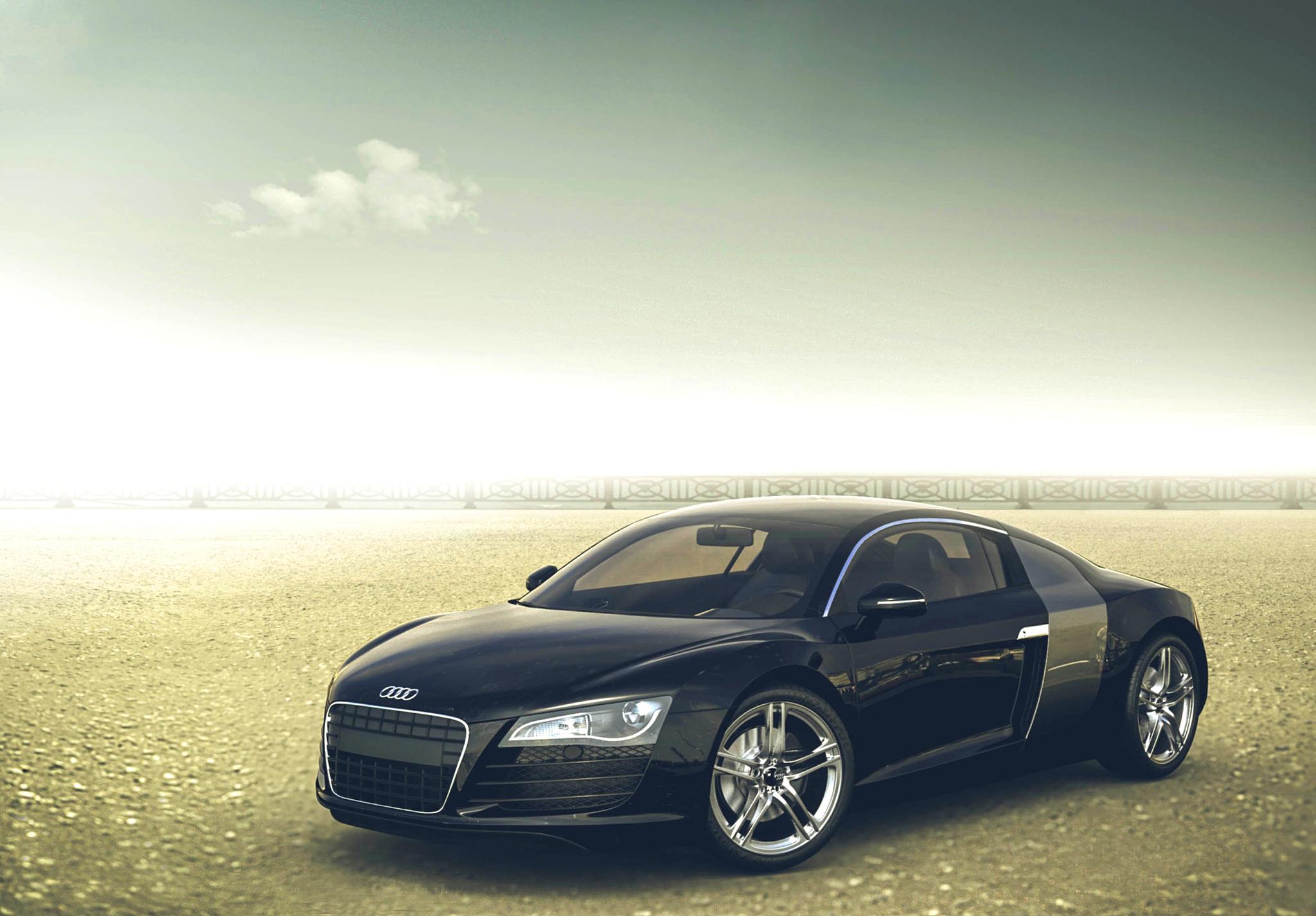 129355 descargar fondo de pantalla Coches, Audi, R8, El Negro, Vista Lateral, Perfil: protectores de pantalla e imágenes gratis