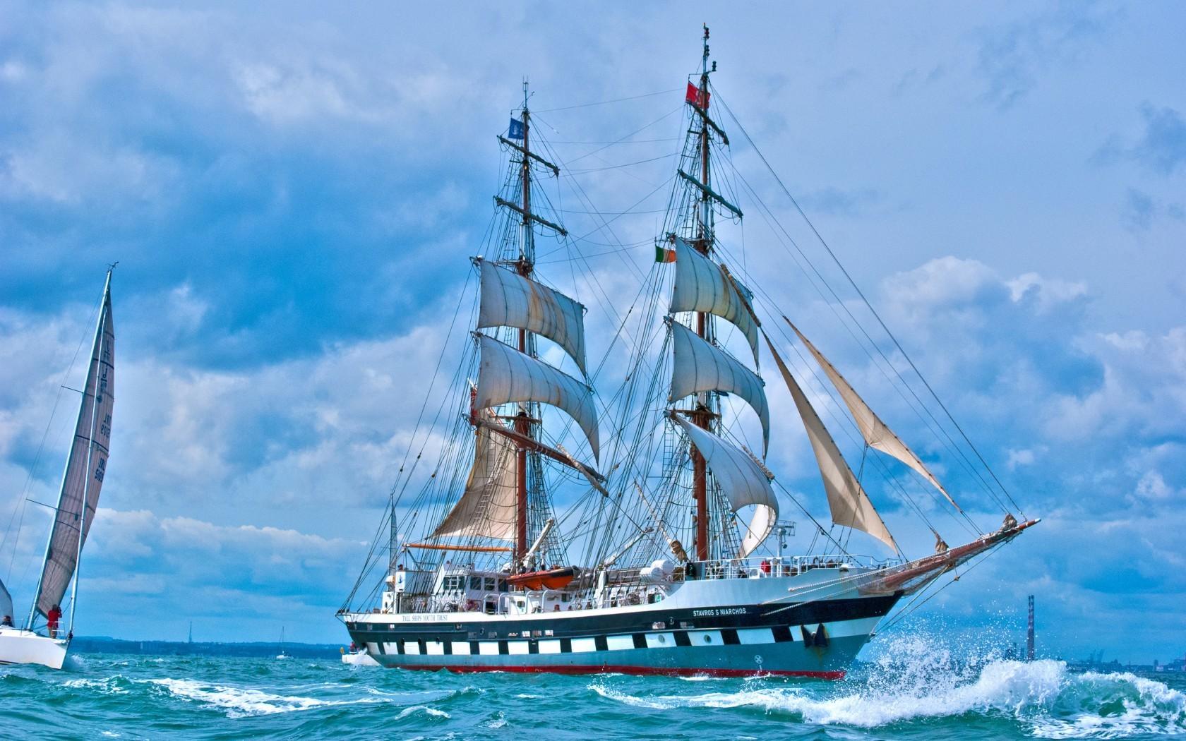 17420 скачать обои Пейзаж, Корабли, Море, Волны - заставки и картинки бесплатно