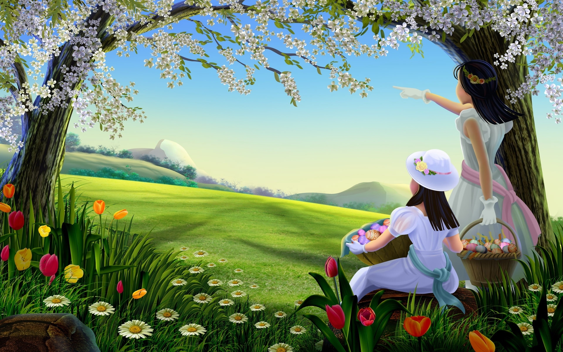 93 download wallpaper Plants, People, Trees, Children screensavers and pictures for free